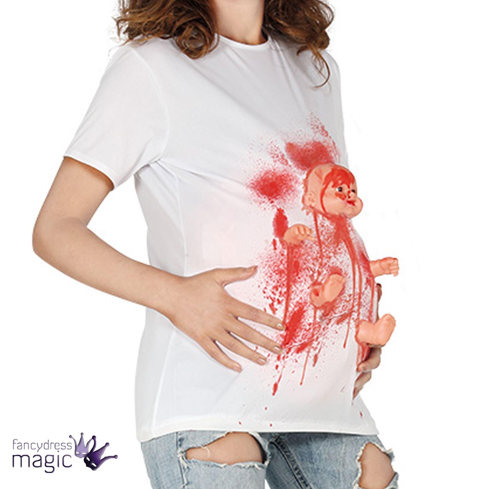 damen halloween schwangerschaft zombie kost m kleid outfit baby unheimlich ebay. Black Bedroom Furniture Sets. Home Design Ideas