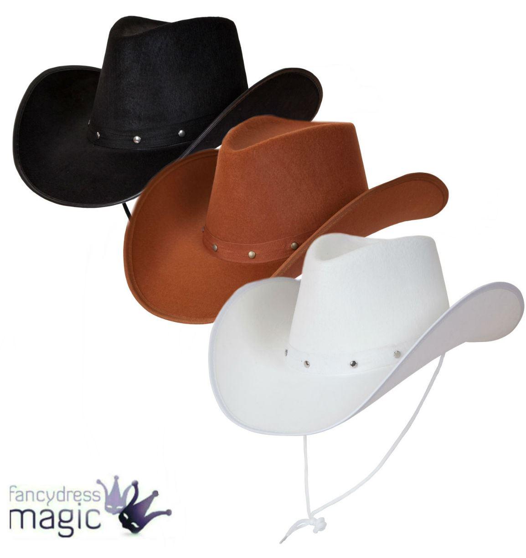 Texan Cowboy Hat Suede Look Fancy Dress Mens Ladies Studded Wild West  Western  e95d426ab05