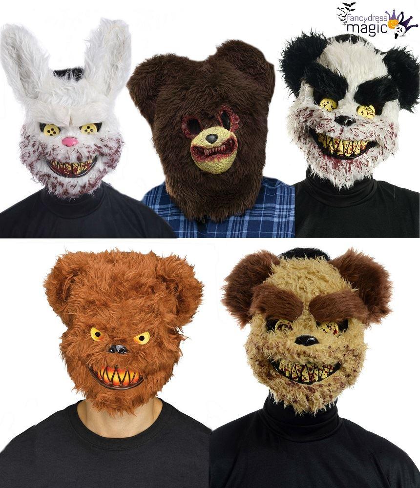 Scary Evil Zombie Ted Killer Bear Furry Bunny Halloween Fancy Dress
