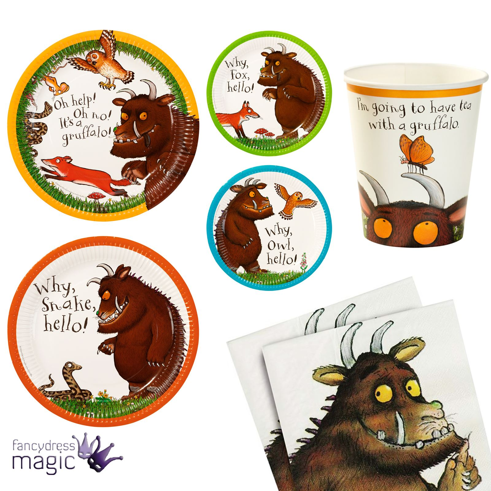 Talking-Tables-The-Gruffalo-Kids-Party-Partyware-Plate-  sc 1 st  eBay & Talking Tables The Gruffalo Kids Party Partyware Plate Napkins Book ...