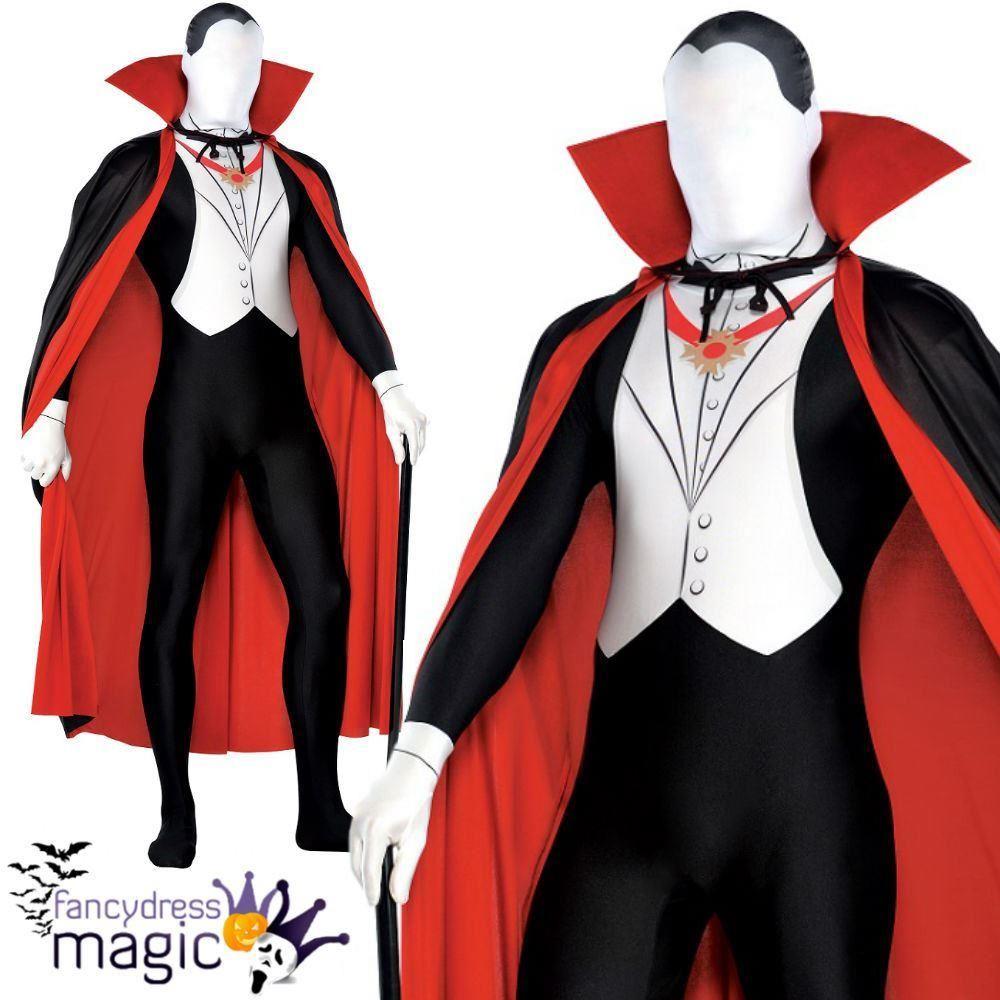 Uncategorized Halloween Dracula mens vampire dracula second skin halloween party suit fancy dress suit