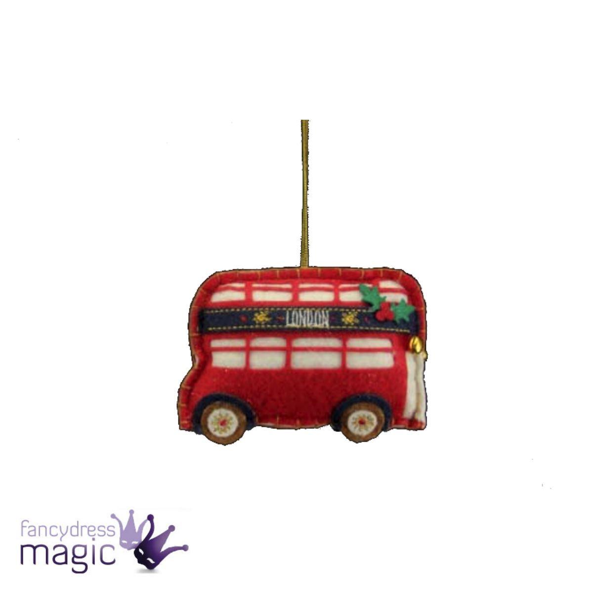 Gisela Graham Felt London Hanging Christmas Decoration Taxi Bus ...