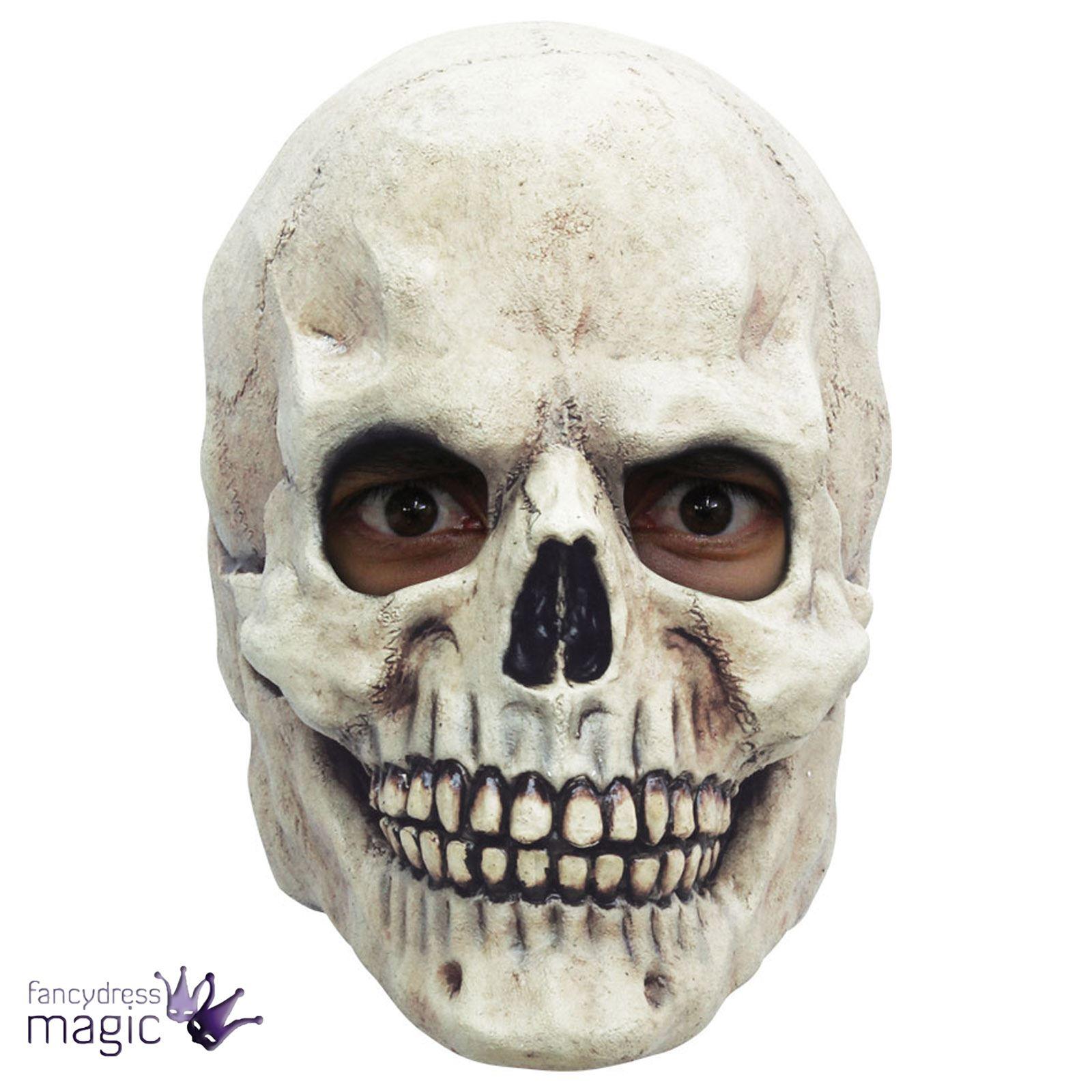 Erwachsene Schädel Grin Skelett mit Kapuze Halloween Horror Kostüm ...