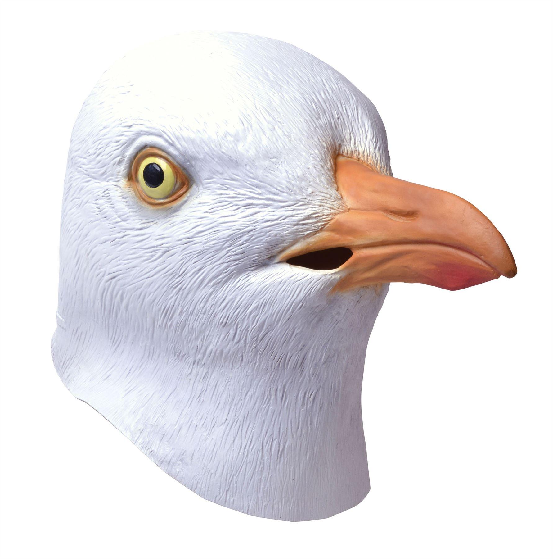 Adult Full Overhead Rubber Seagull Beach Bird Fancy Dress Costume ...