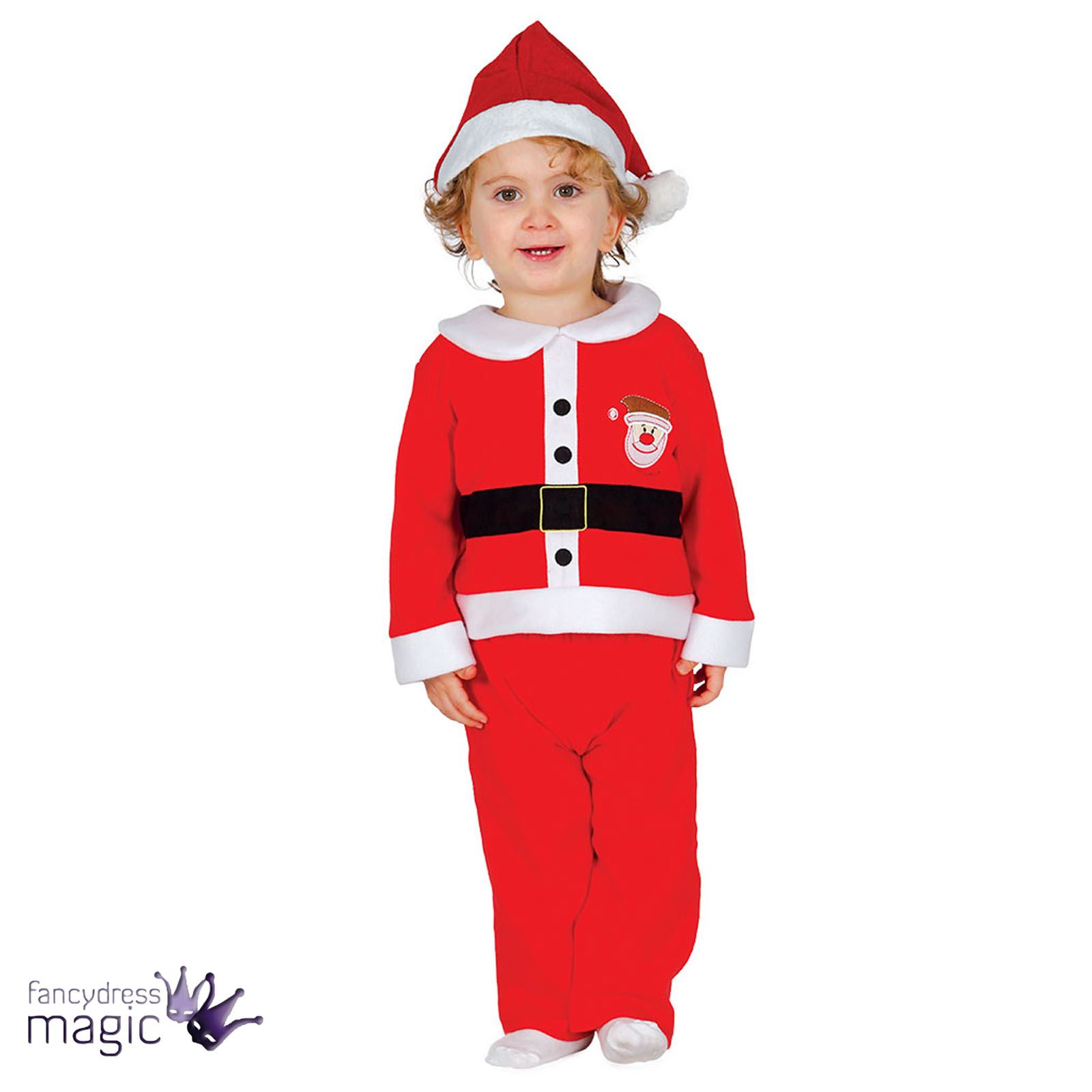 dbf0b7c93 Baby Toddler Boys Santa Claus Christmas Xmas Fancy Dress Costume Hat  Festive Set