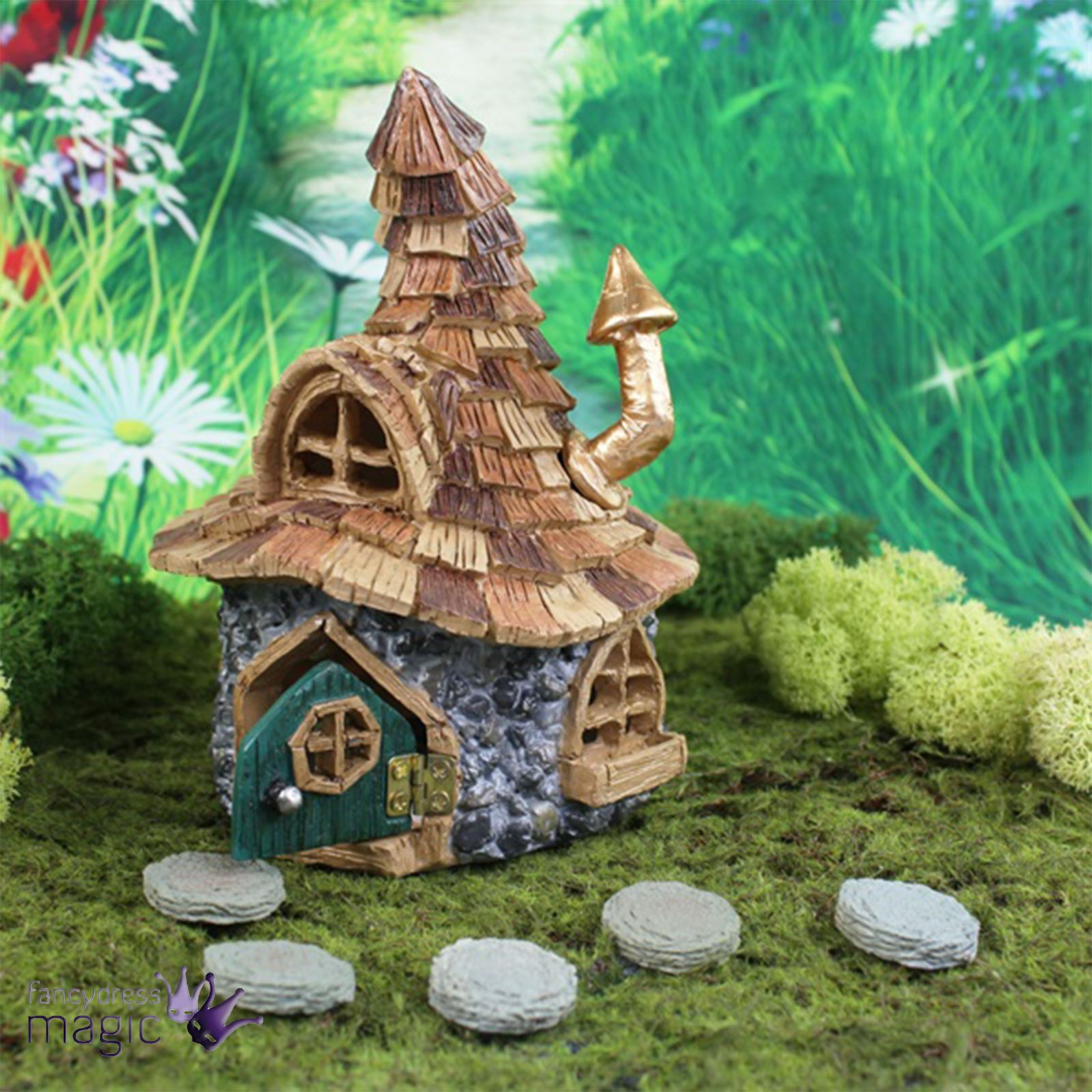 Fiddlehead shingle shingletown gnome fairy garden pixie for Amazon uk fairy doors