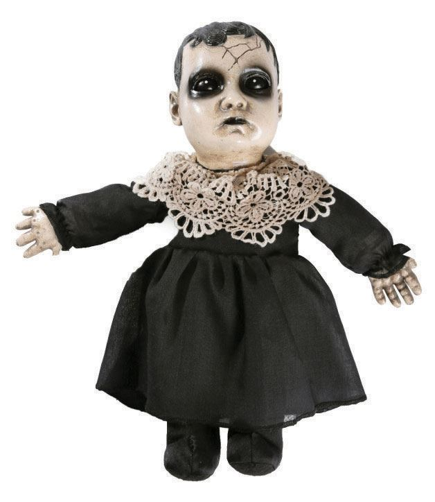 Scary animated talking haunted house baby doll halloween for Decoration maison horreur