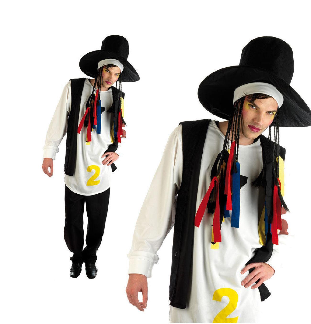 adult mens boy george 80s 1980s pop star fancy dress costume
