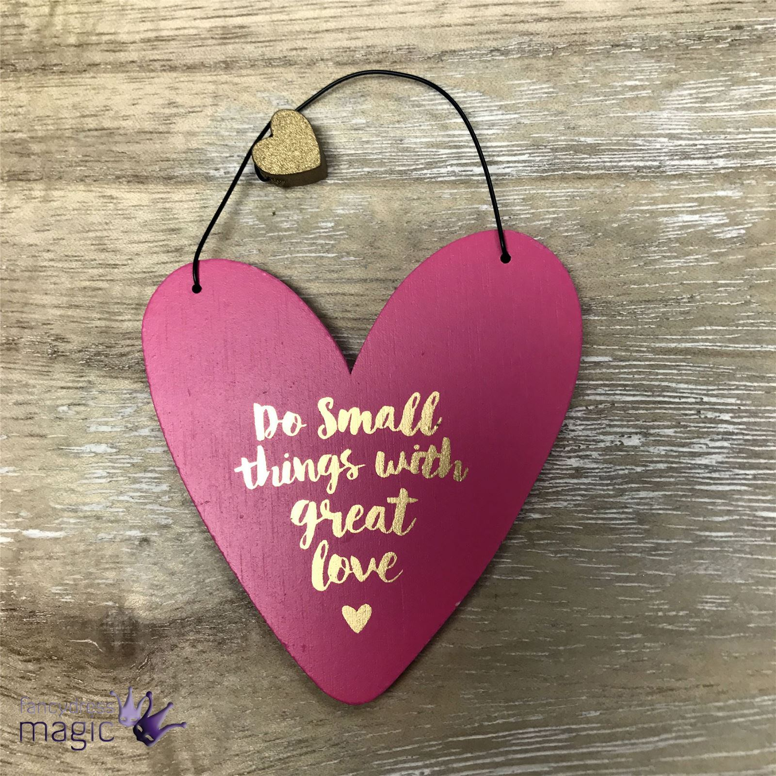 Quote Plaques: Inspirational Tiny Heart Shaped Mini Quote Wooden Hanging