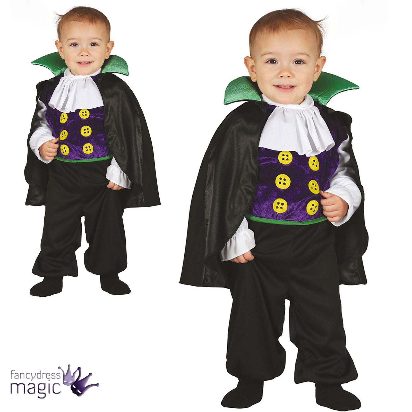 Boys Baby Toddler Halloween Vampire Dracula Fancy Dress Costume