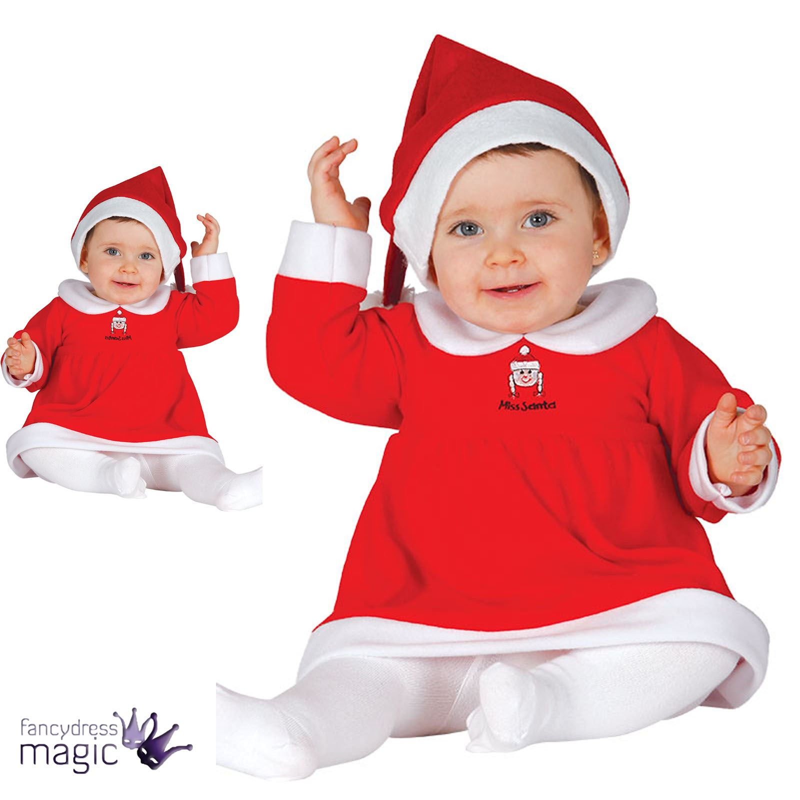 baby kleinkind m dchen miss santa weihnachten schicke. Black Bedroom Furniture Sets. Home Design Ideas
