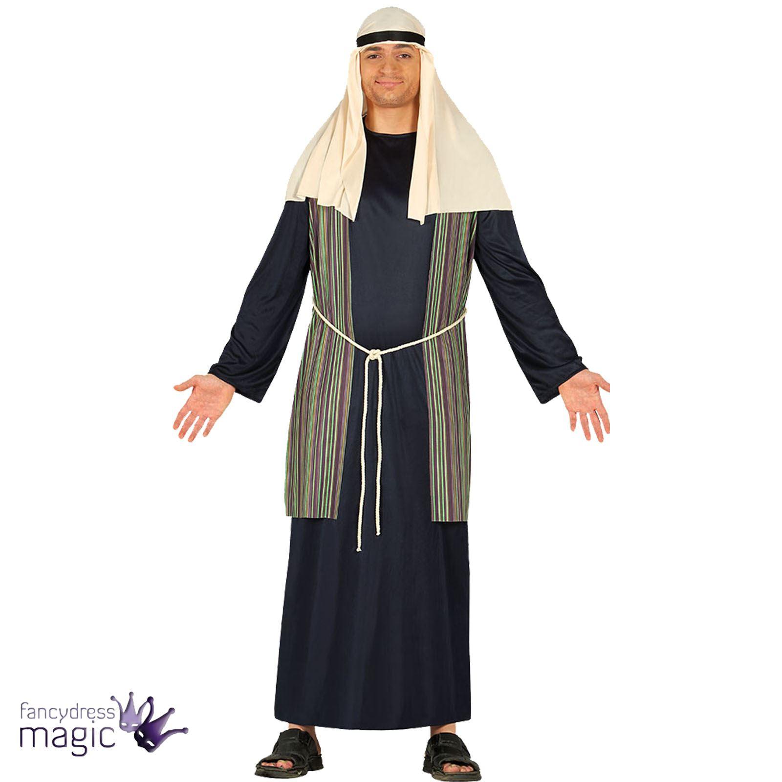mens adults christmas xmas nativity long joseph arab fancy dress