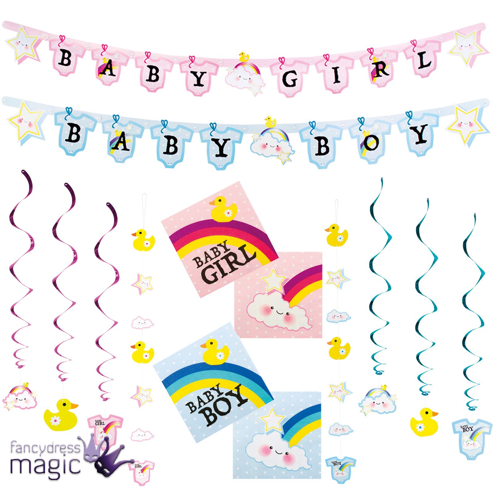 New Arrival Baby Shower Its A Boy Girl Gender Reveal Party