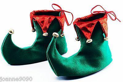 Para Hombre Adulto Navidad Navidad Elfo Santa Ayudante Disfraz Traje De Disfraz Zapatos orejas