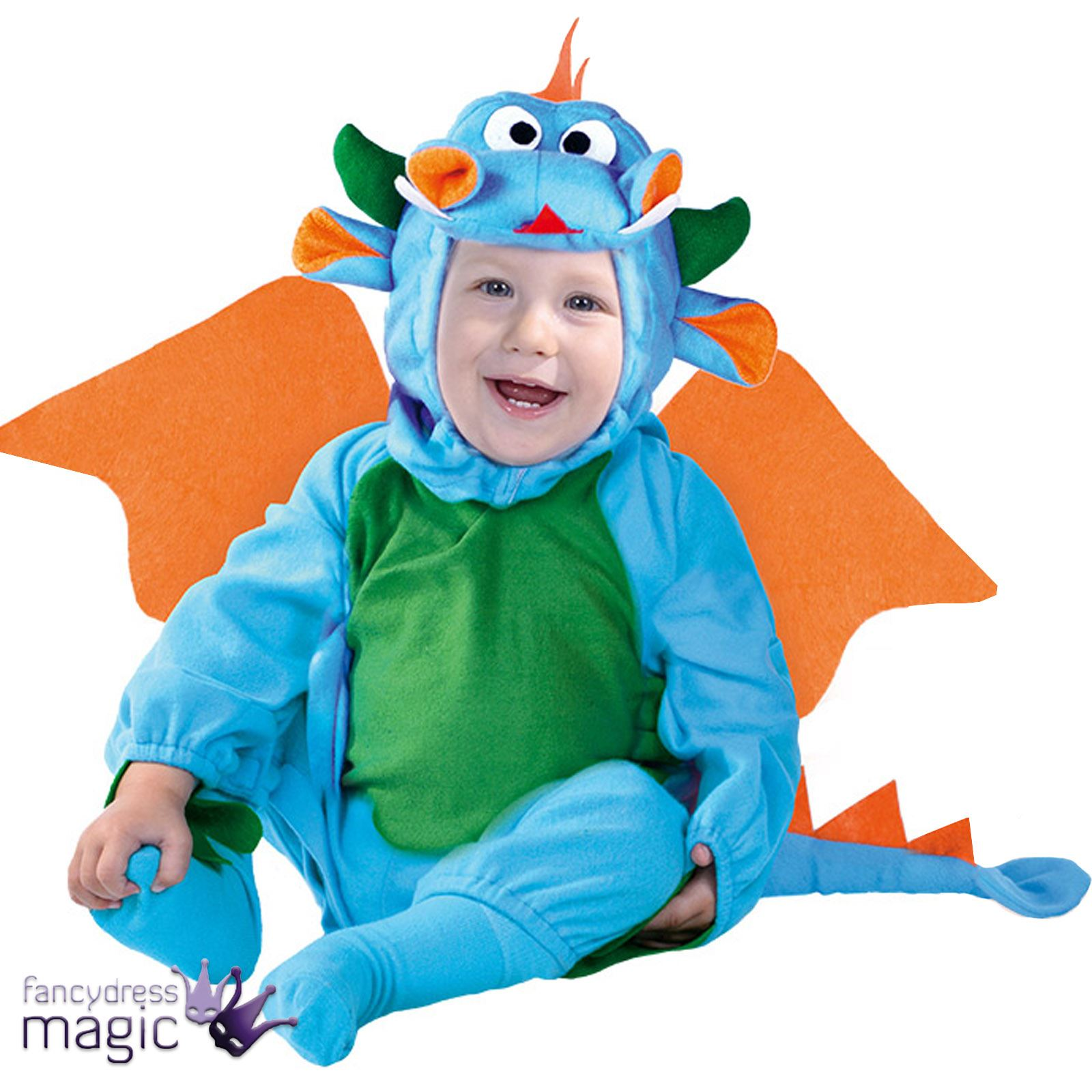 baby toddlers blue dragon dinosaur halloween fancy dress costume
