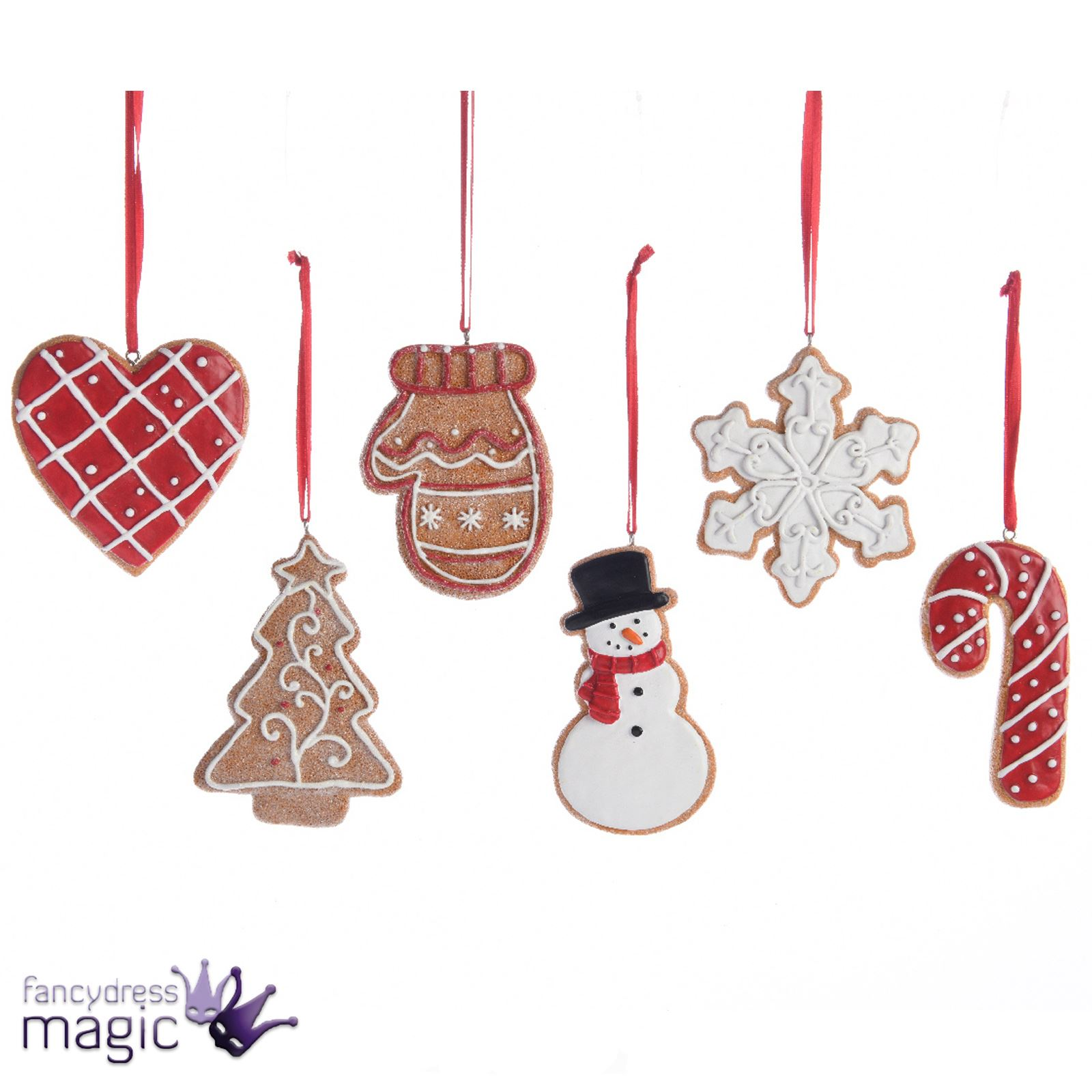 Kaemingk Gingerbread Cookie Glitter Hanging Christmas Tree ...