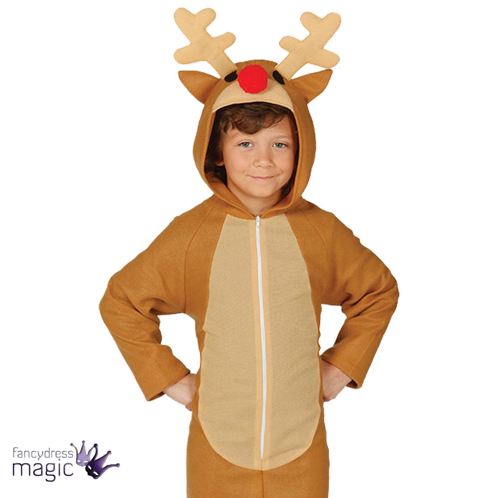 Infantil Infantil Navidad Belen Reno Disfraz Mono Ebay - Disfraz-reno