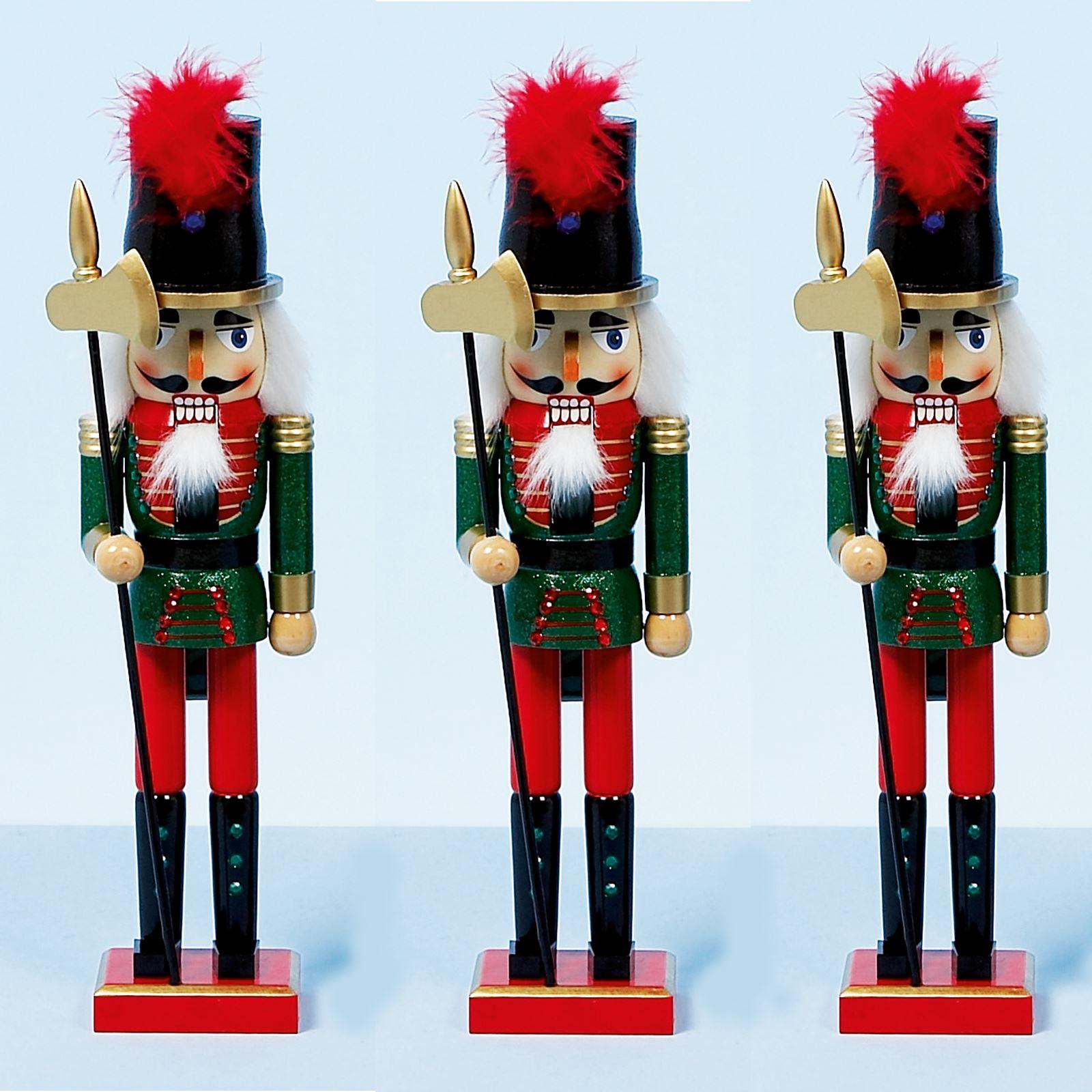38CM XMAS CHRISTMAS TRADITIONAL STYLE NUTCRACKER WOODEN GUARD BALLET ...