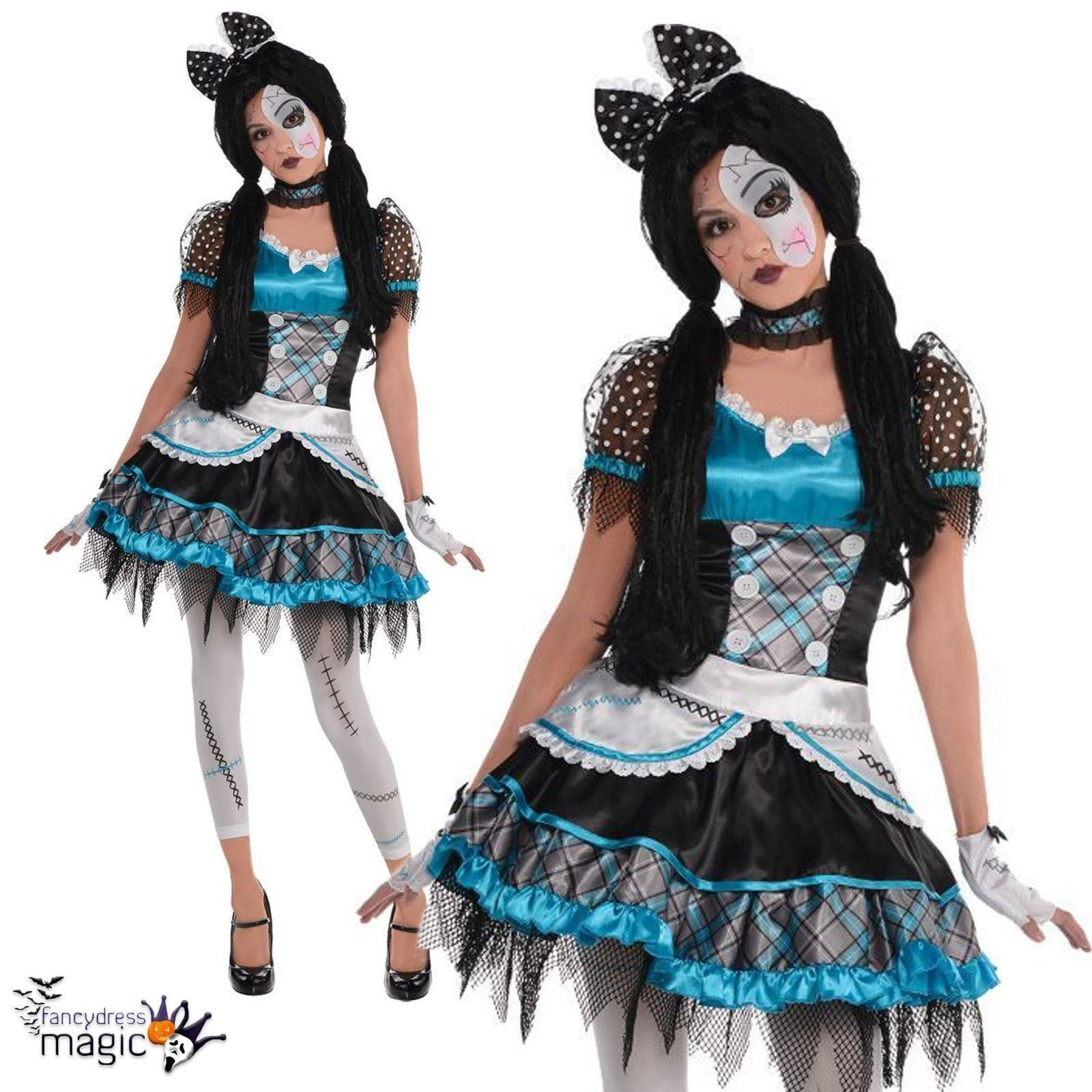 amscan teens halloween shattered doll girls fancy dress party