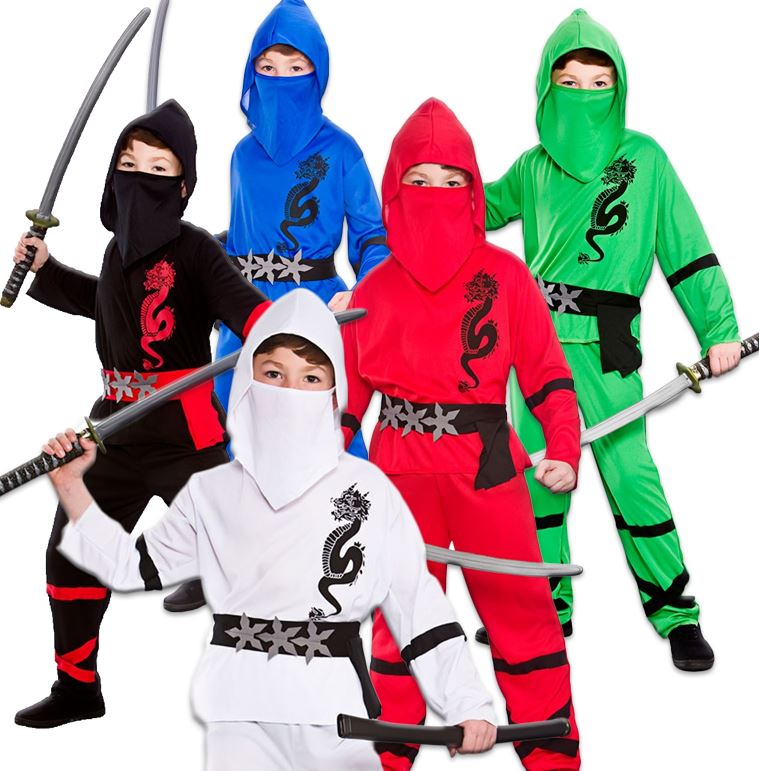 jungs macht ninja japanisch samurai krieger kind kinder kost m kleid outfit ebay. Black Bedroom Furniture Sets. Home Design Ideas