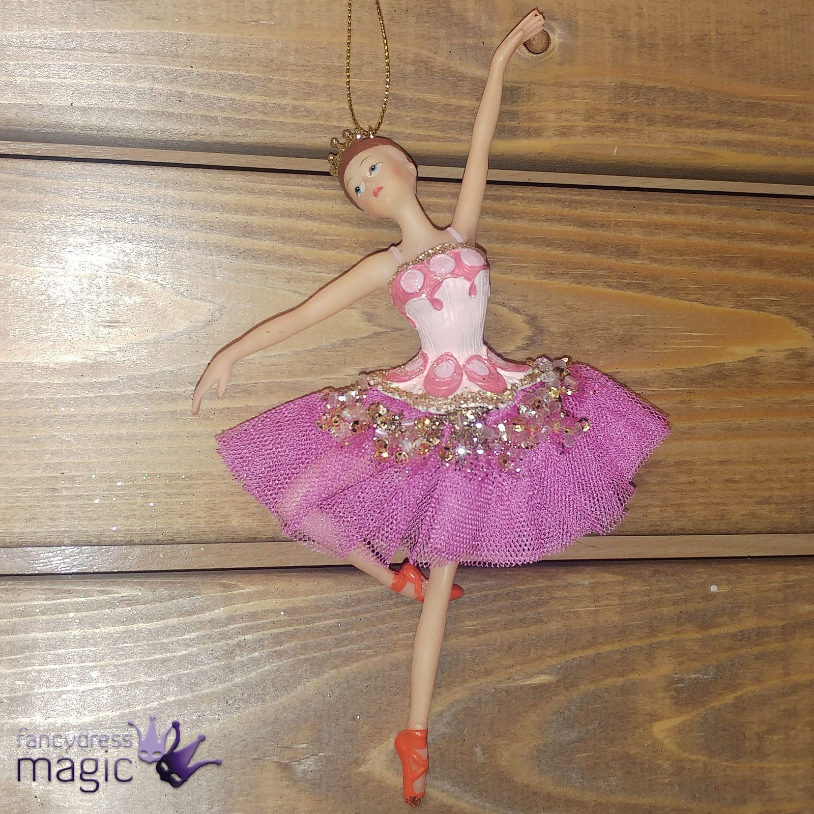 Gisela graham pink ballerina ballet dancer christmas tree for Ballerina decoration