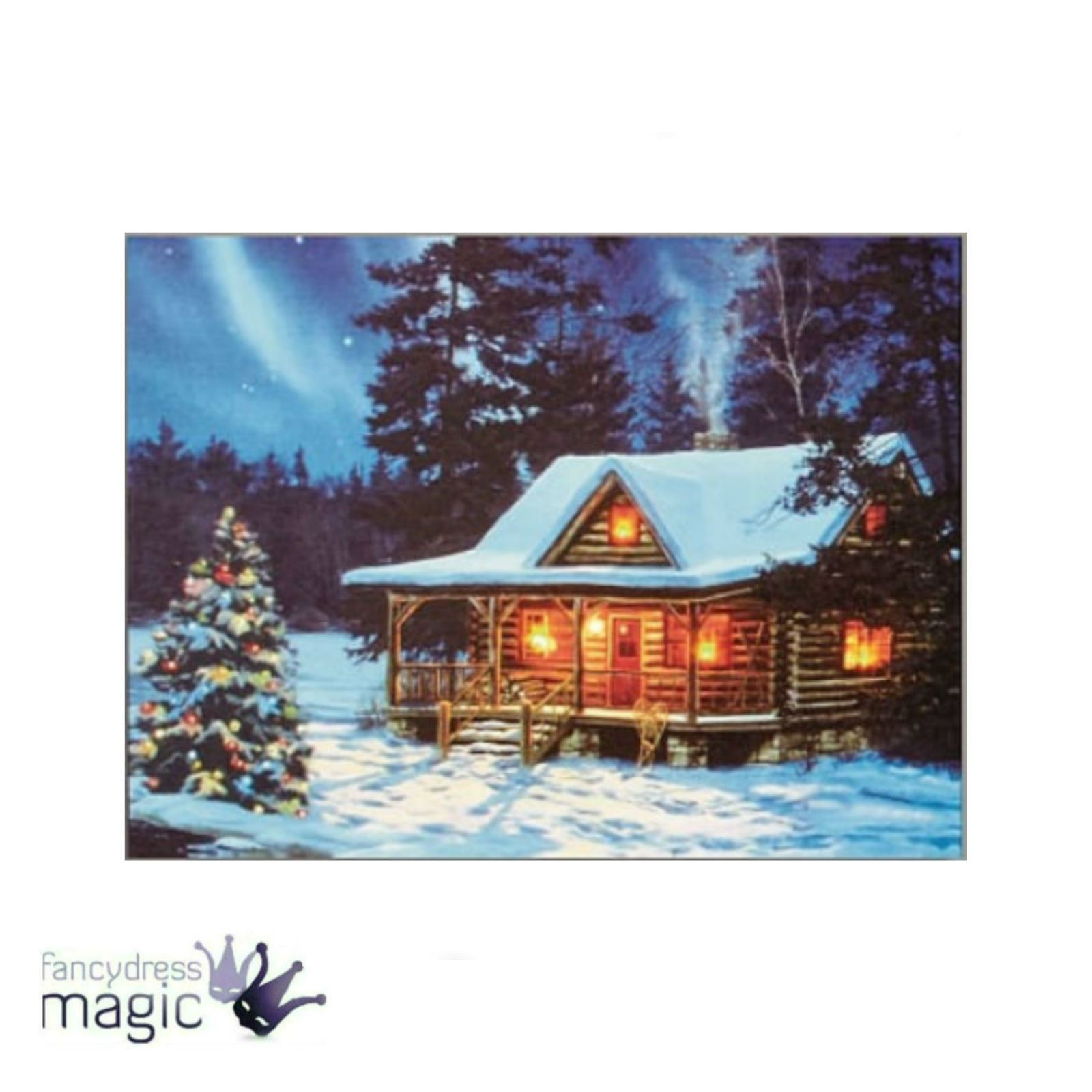 40 x 30cm canvas led lights battery operated christmas for Christmas wall art amazon