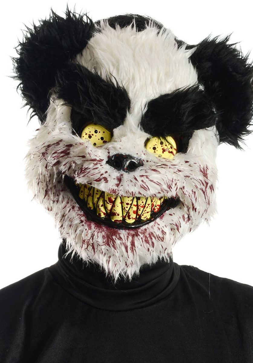 Scary Evil Zombie Ted Killer Bear Furry Bunny Halloween Fancy ...