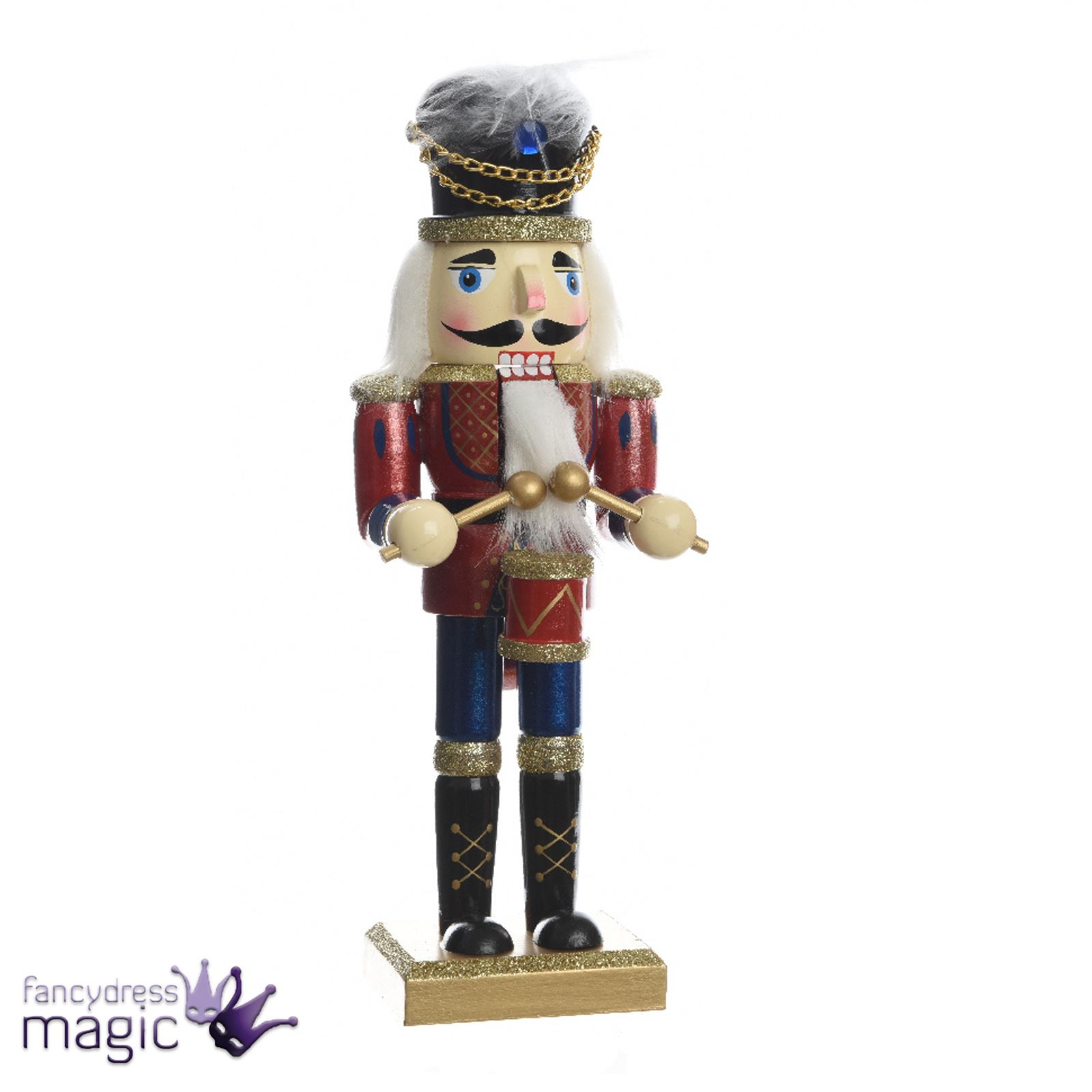 Kaemingk Wood Traditional Soldier Nutcracker Christmas Ornament ...