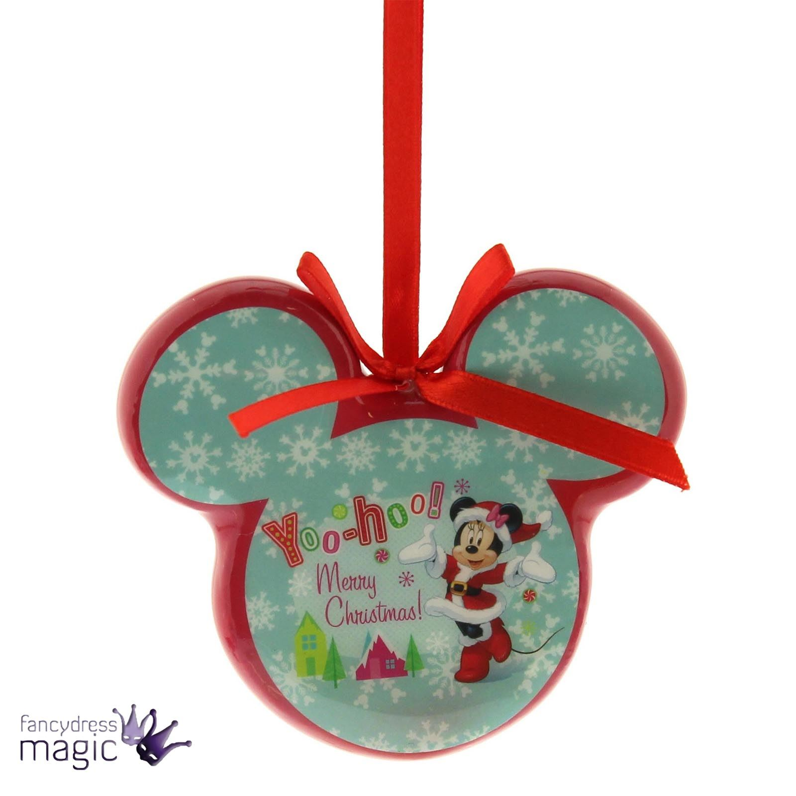 Top de fête Disney Noël Mickey Minnie boule découpage cadeau maison  JB99