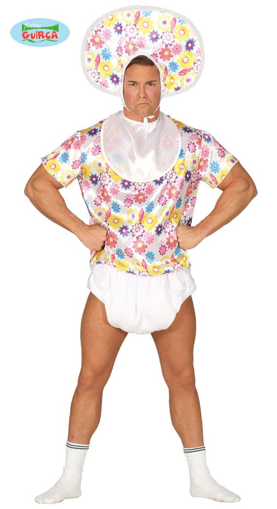adult large floral big baby nappy stag do halloween fancy dress costume outfit 8434077802106