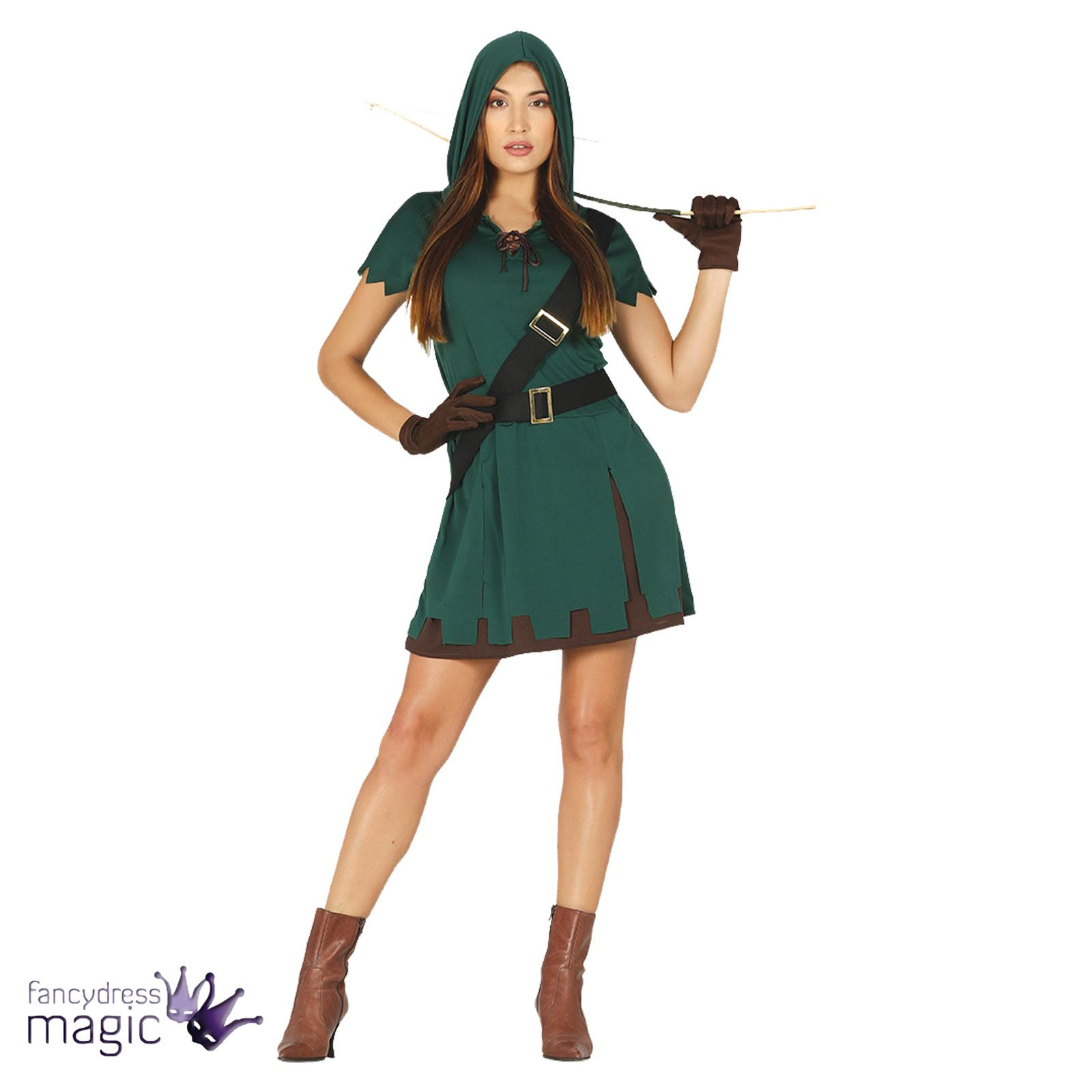 Adult-Robin-Hood-Hunter-Archer-Fancy-Dress-Costume-  sc 1 st  eBay & Adult Robin Hood Hunter Archer Fancy Dress Costume Outfit Medieval ...
