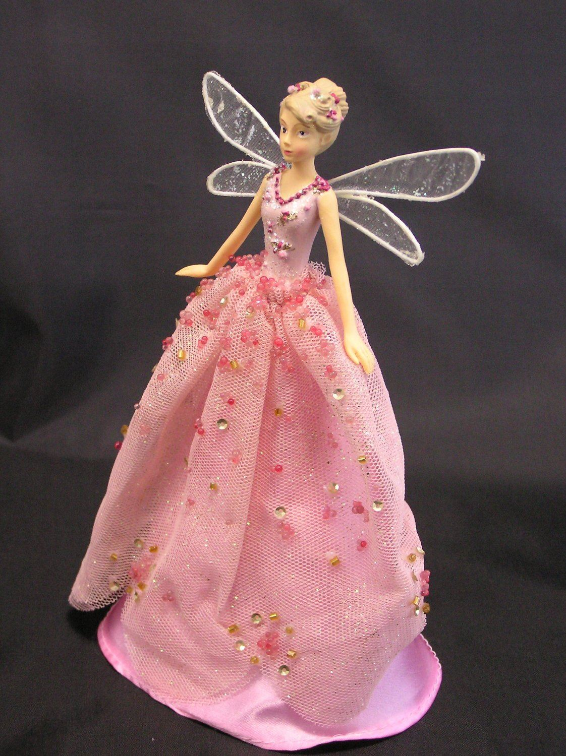 pink christmas tree topper