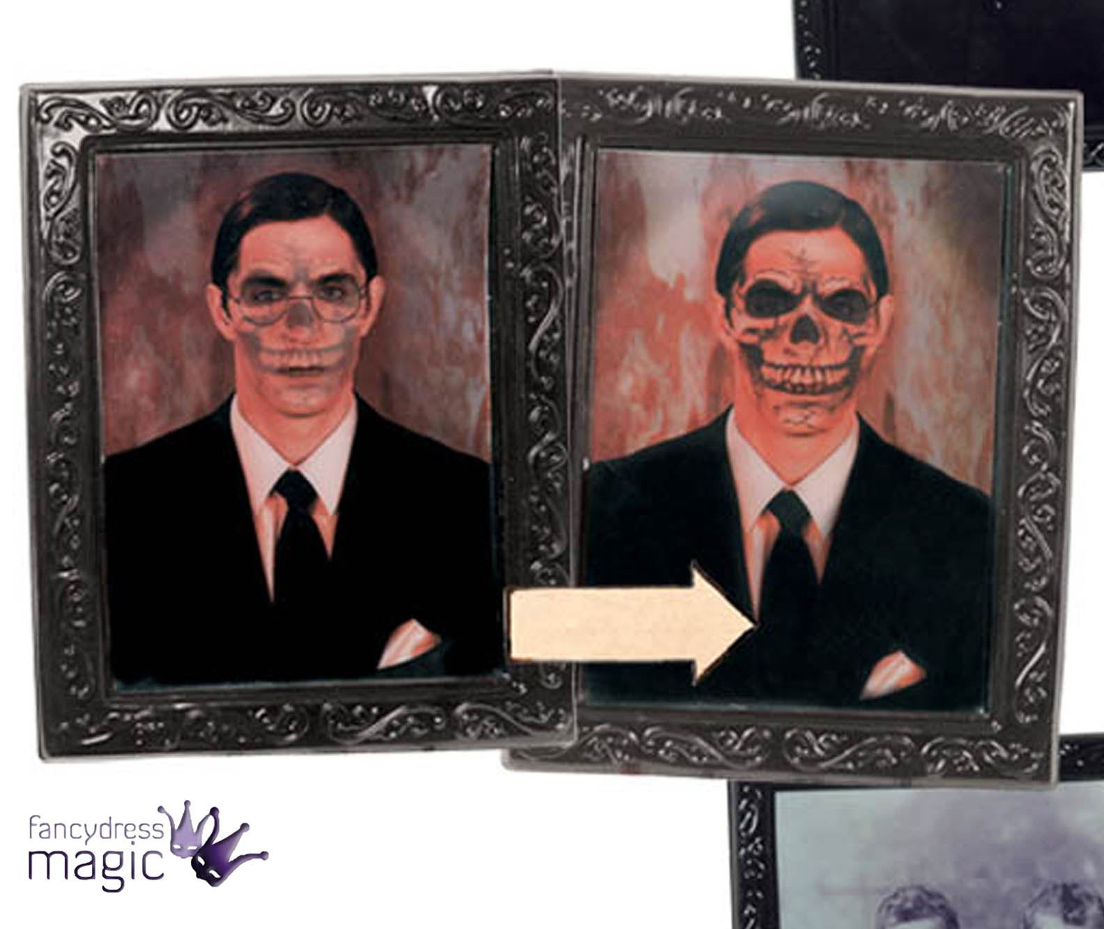 Holographic effect lenticular haunted mansion halloween decoration holographic effect lenticular haunted mansion halloween decoration picture jeuxipadfo Images