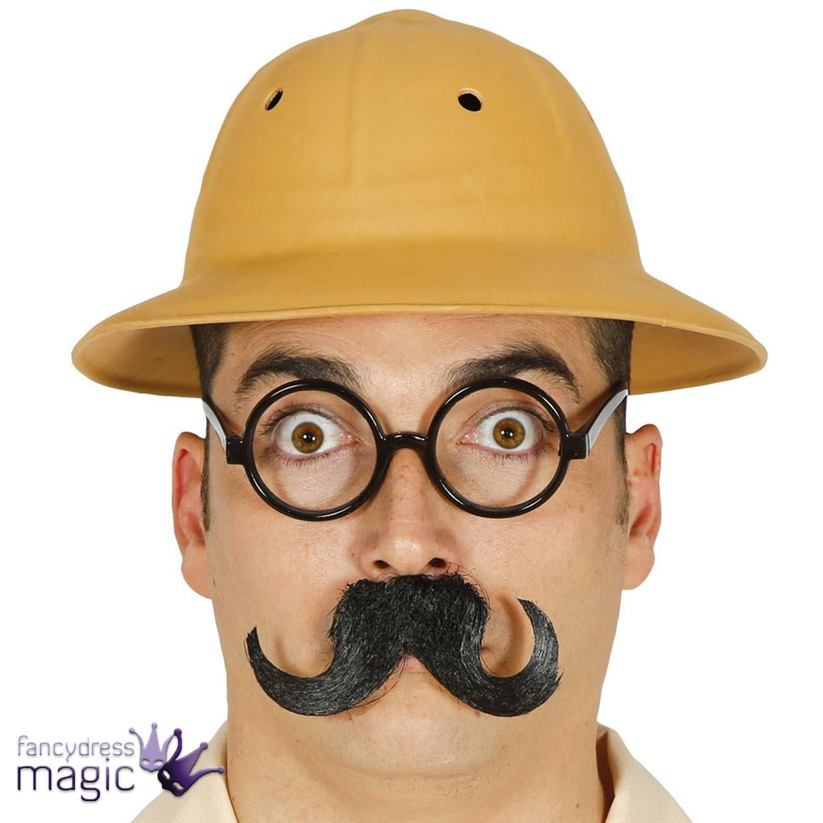 Adult Safari Explorer Zoo Keeper Jungle Fancy Dress Costume Accessory  Helmet Hat 89156906828
