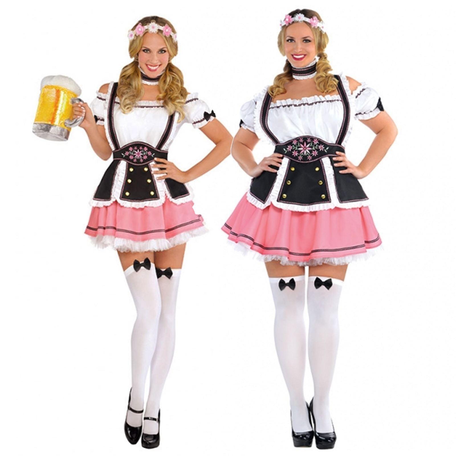 Ladies Womens Oktobermiss Oktoberfest Bavarian Beer Festival Fancy Dress Costume  sc 1 st  eBay & Ladies Womens Oktobermiss Oktoberfest Bavarian Beer Festival Fancy ...