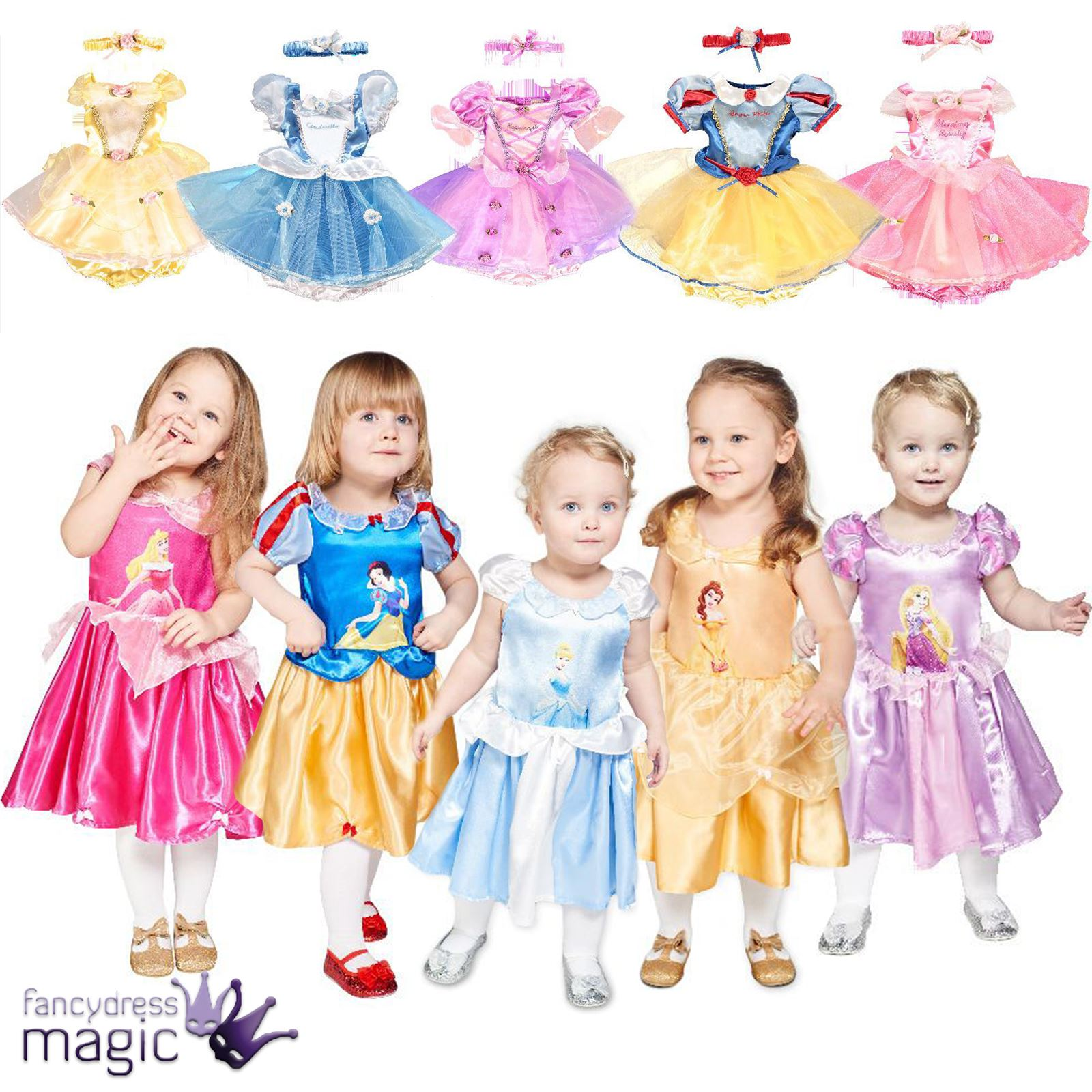 Girl Baby Toddler Disney Princess Fairy Tale Dress Up Fancy Dress