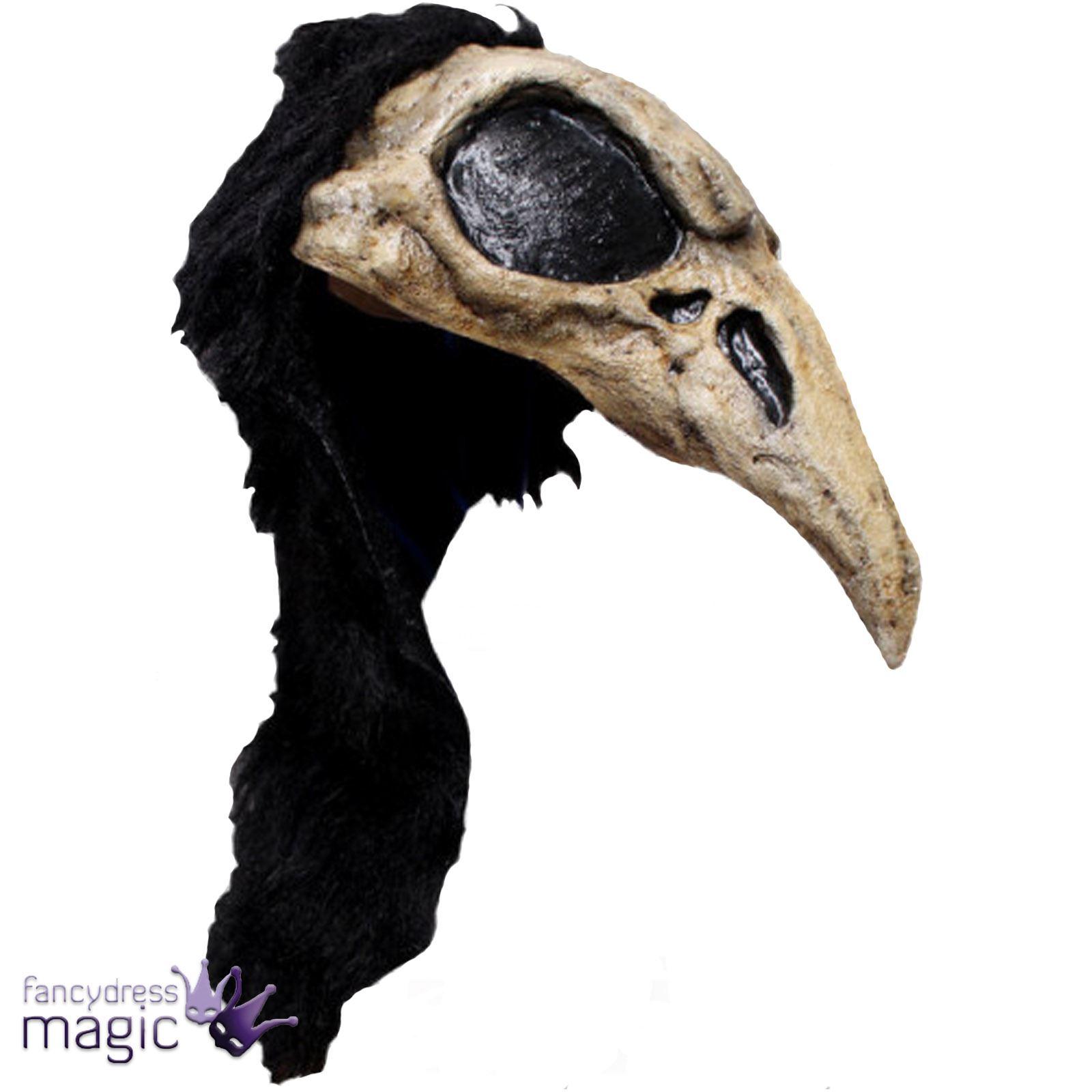 Adulto Cuervo Pájaro CALAVERA MEDIEVAL Negro Muerte Cine Terror ...
