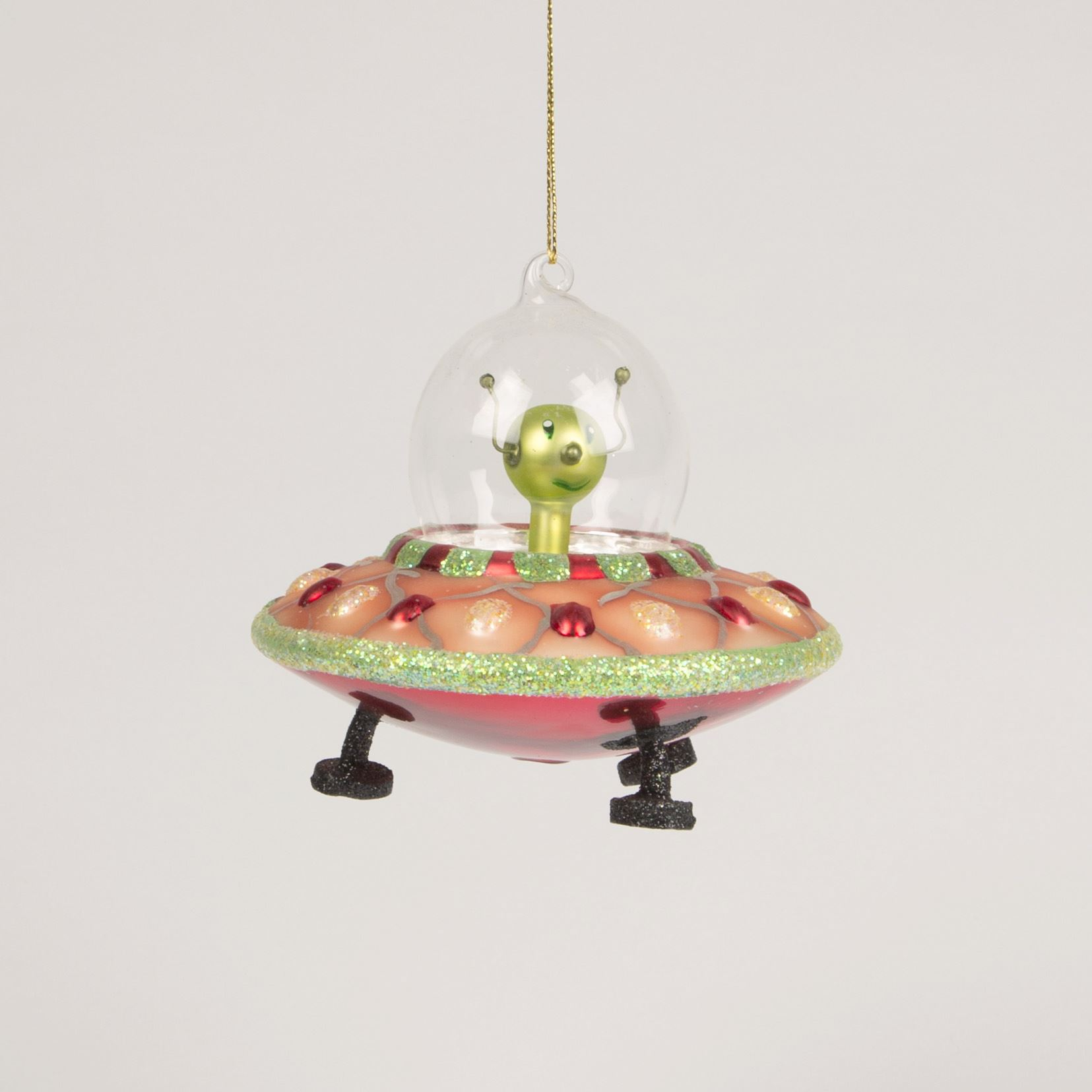 Sass & Belle Alien Spaceship Christmas Tree Bauble Decoration Xmas ...