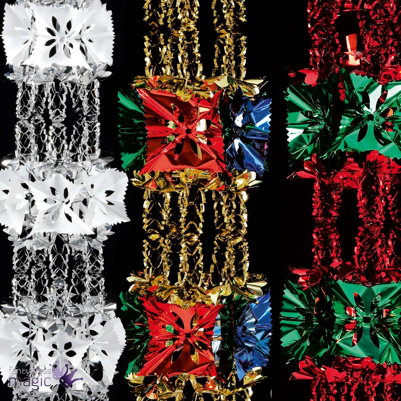 Foil luxury garland large foil christmas xmas for Exclusive christmas decorations