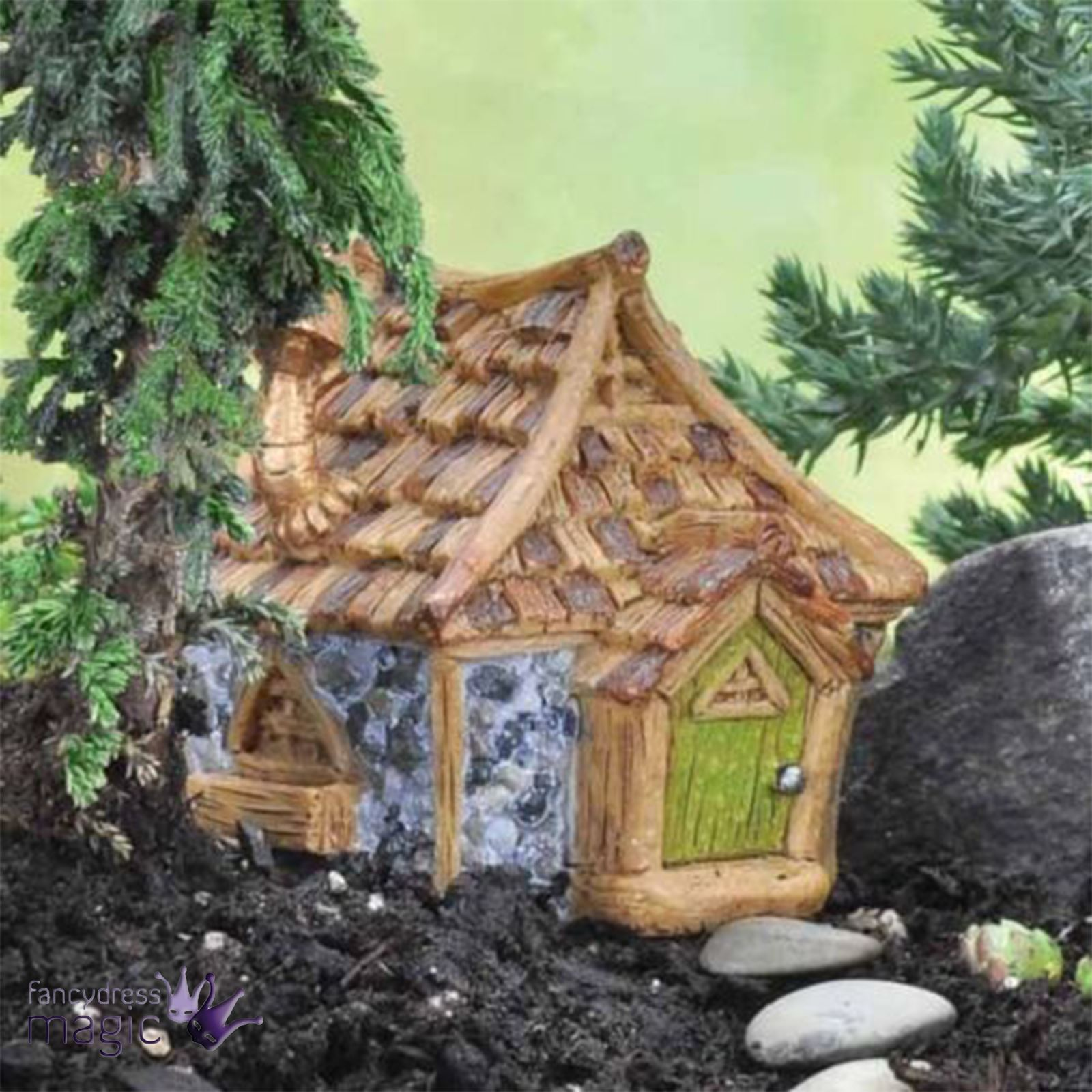 Fiddlehead Shingle Shingletown Gnome Fairy Garden Pixie House Home ...