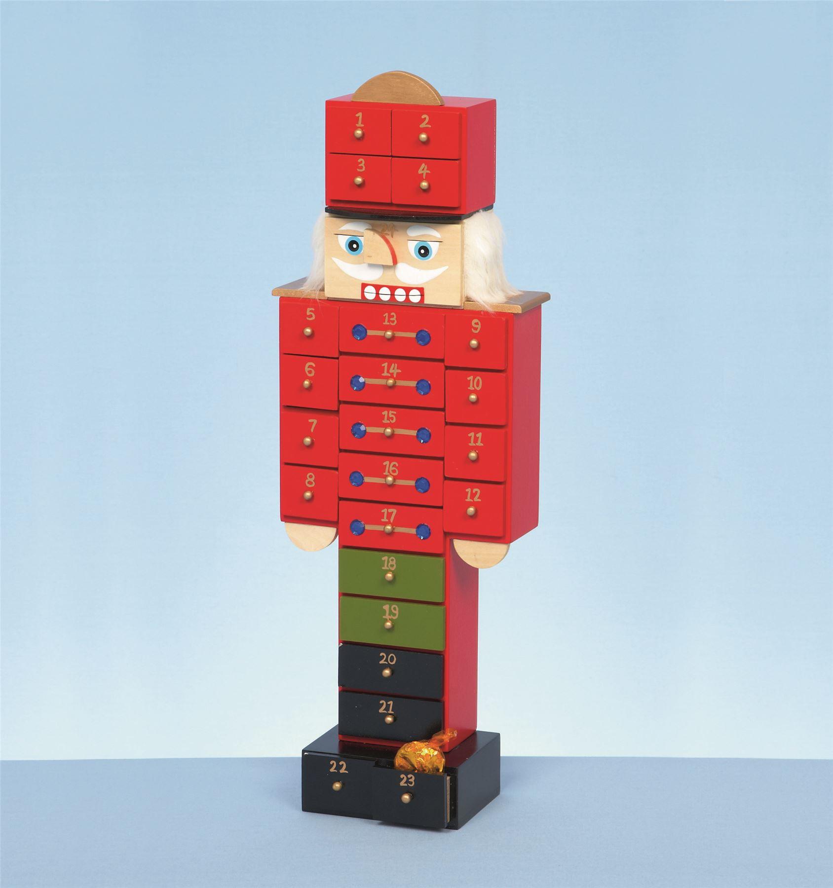 47cm Holz Nussknacker Soldat rot Adventskalender Weihnachten ...