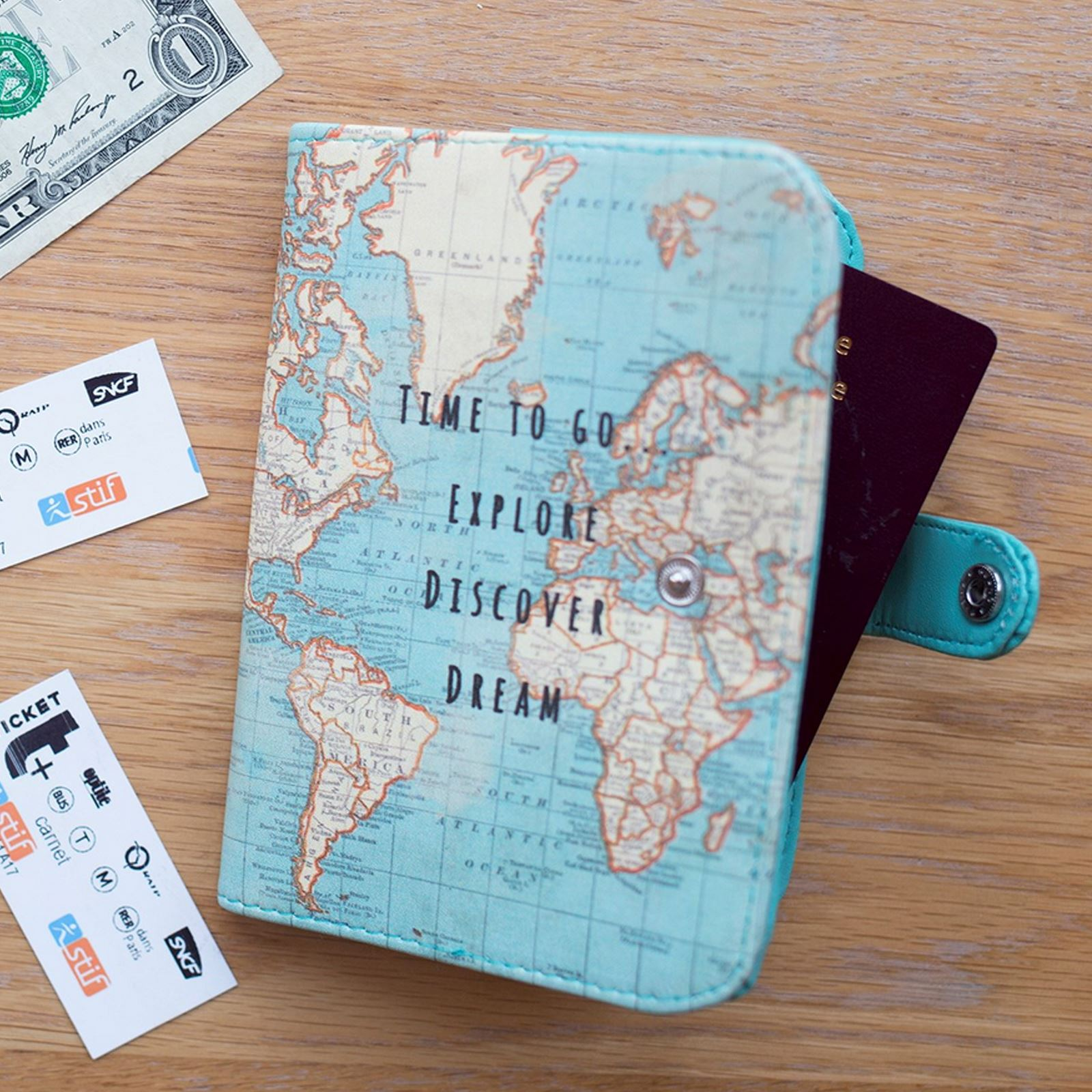 Sass belle vintage time to go world map atlas uk passport cover sass belle vintage time to go world map atlas uk passport cover holder gift gumiabroncs Choice Image