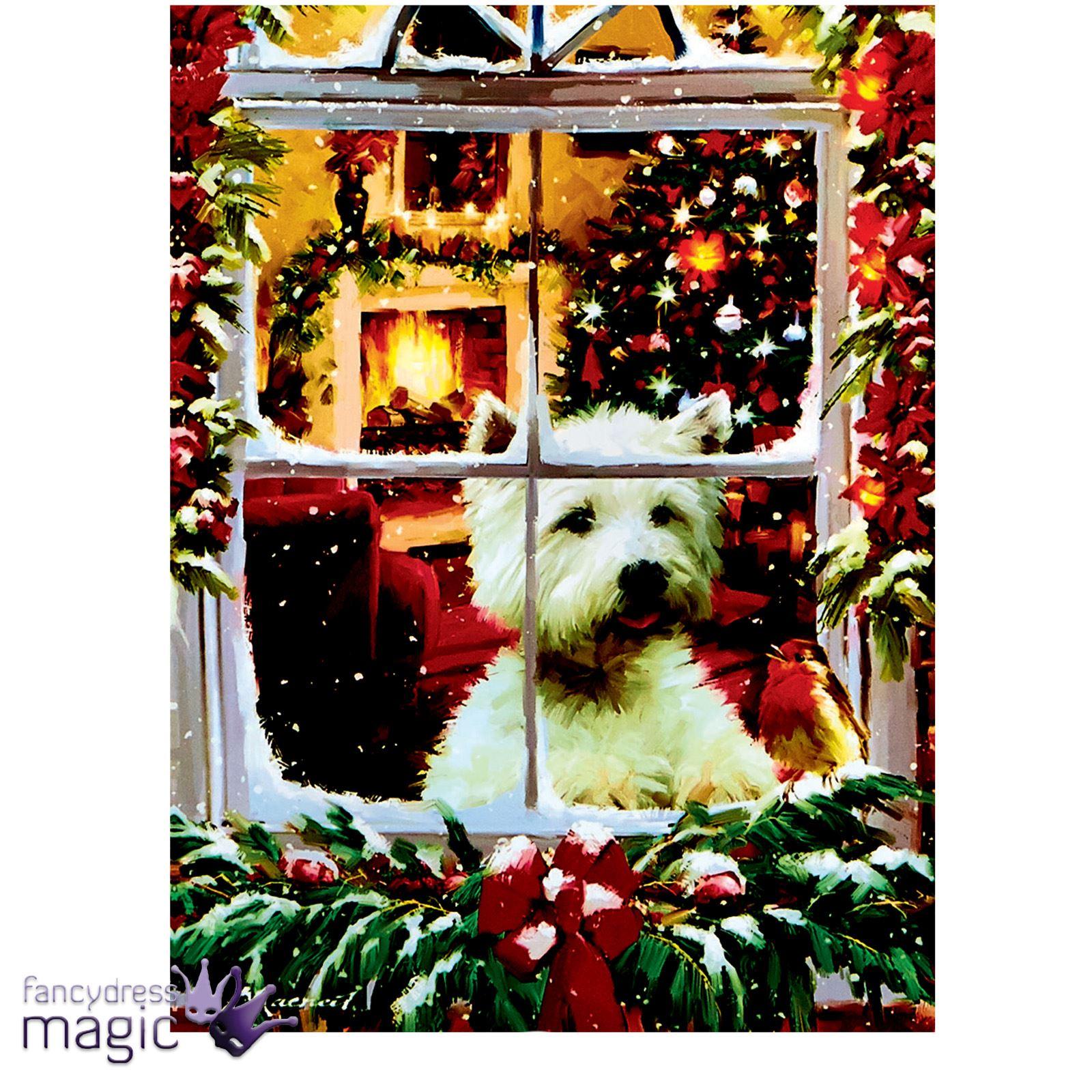 40 x 30cm christmas animal scene led canvas battery for Christmas wall art amazon