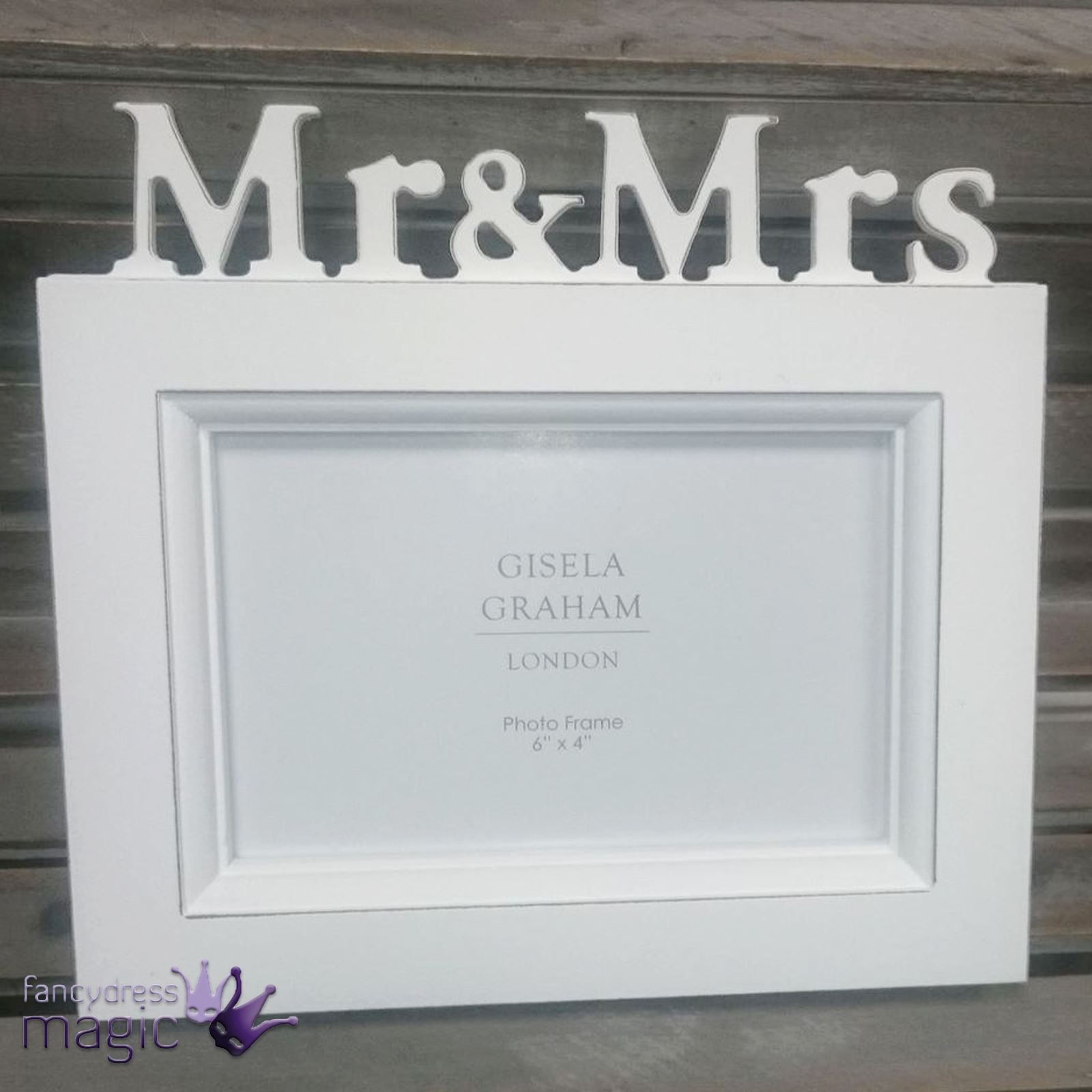 Gisela Graham White Wood Rustic Mr And Mrs Photo Picture Frame Home ...