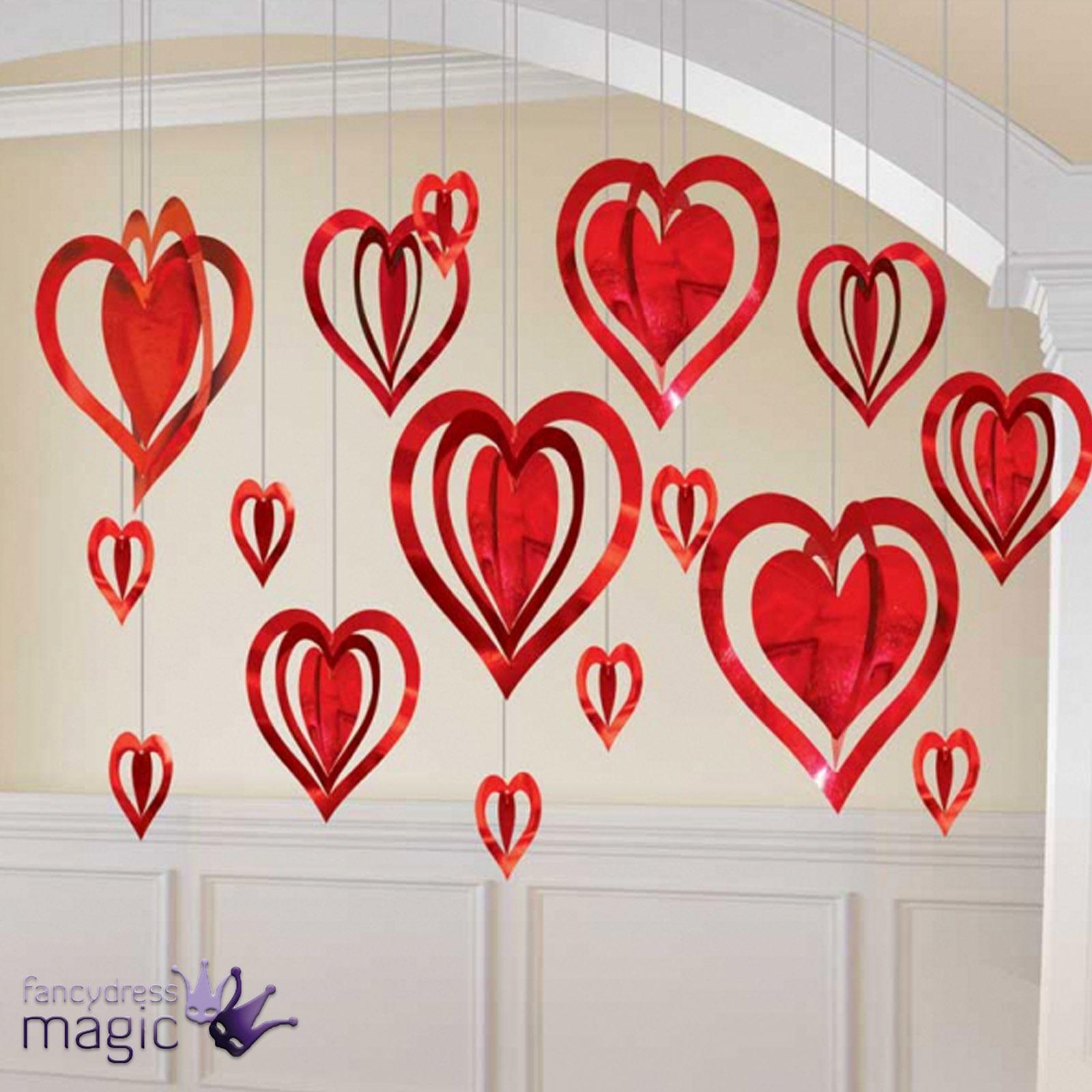 3d San Valentin Boda Compromiso Corazon Fiesta Decoracion Colgante - Decoracion-san-valentin