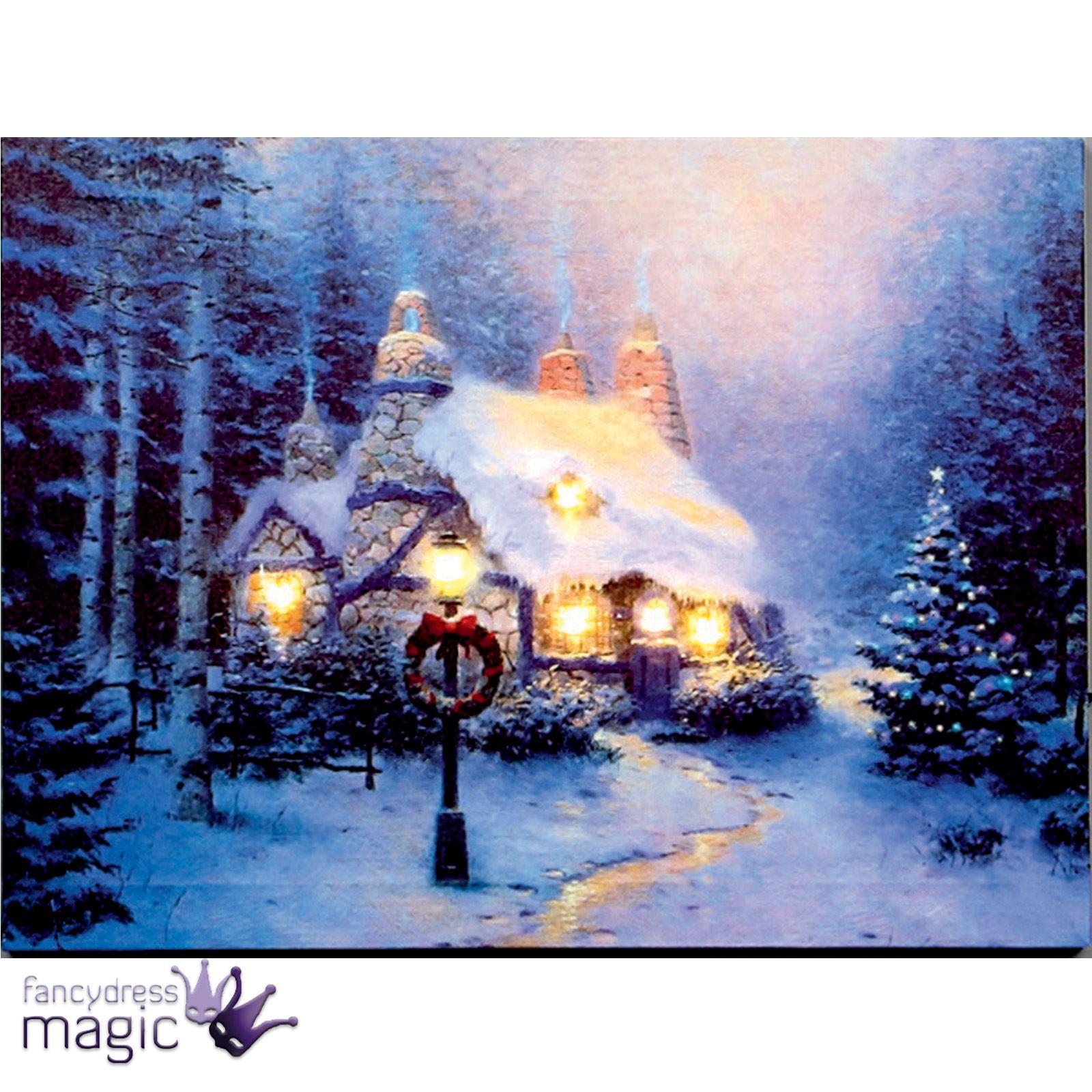 40 x 30cm battery operated led christmas xmas canvas print for Christmas wall art amazon