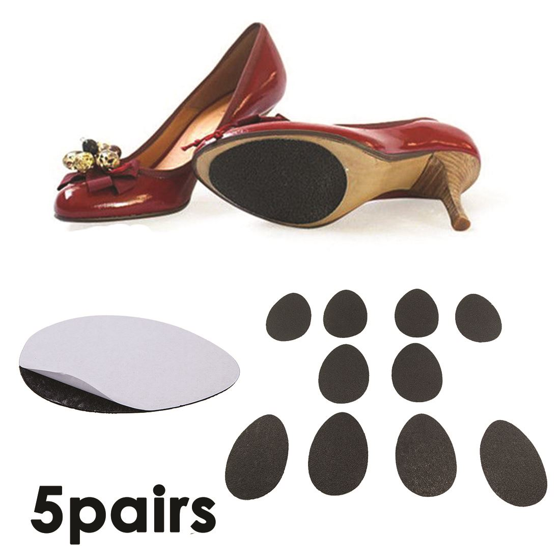 Anti-Slip Stick Shoes Sole Self-adhesive Protector Grip Pad For Ladies High Heel