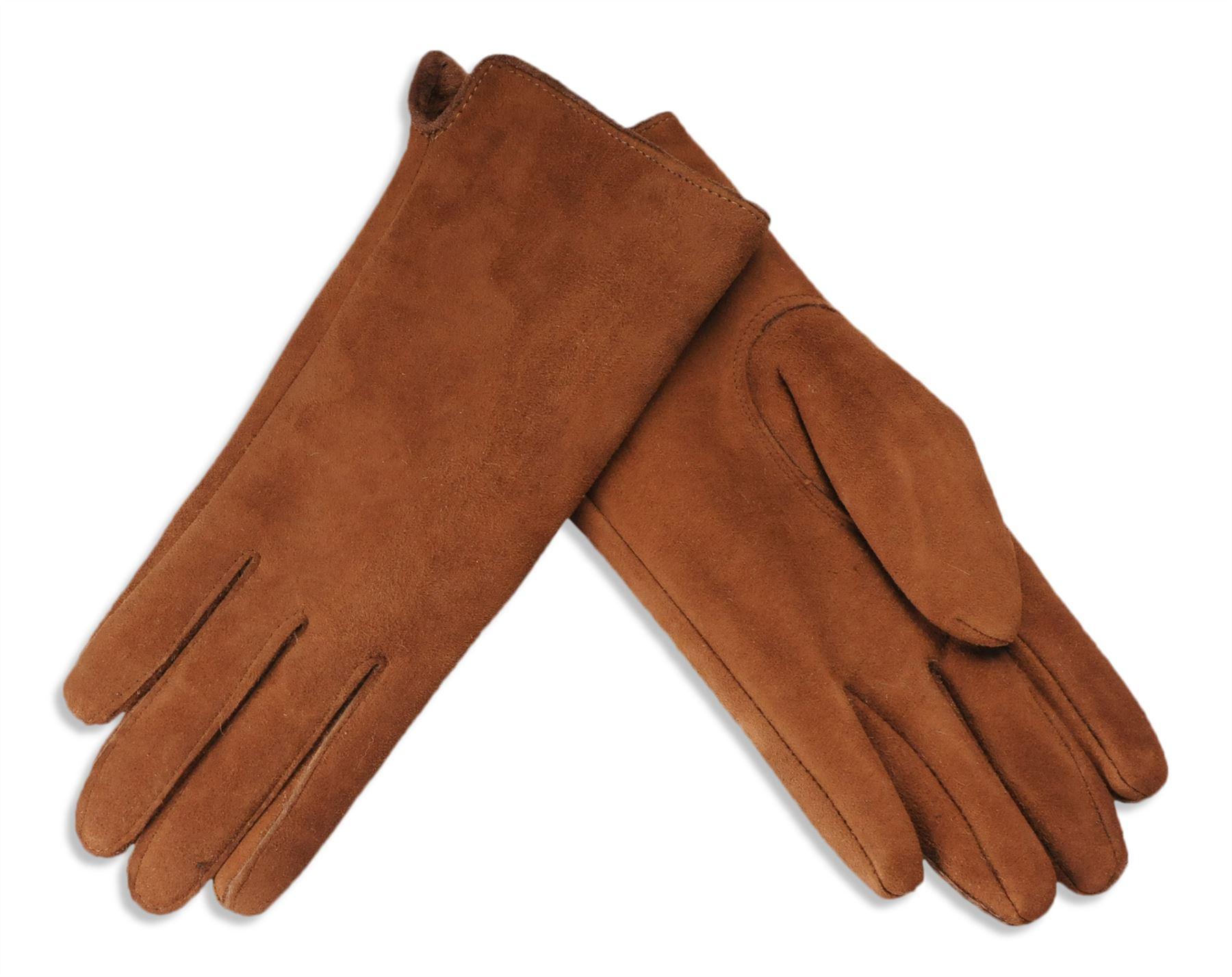 Nordvek Mens Sheepskin Lined Black Real Leather Gloves Genuine 302-100