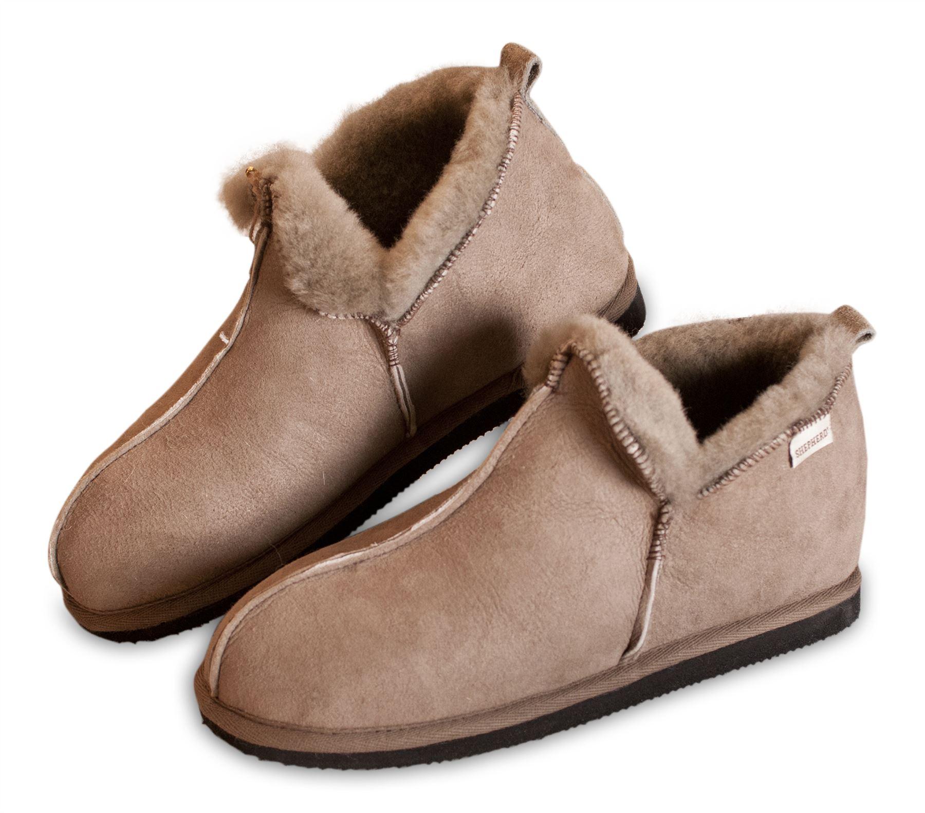 Shepherd donna vera pelle di pecora Pantofole Stivali Da Donna Donna Donna Annie suola rigida 4922 75fa49