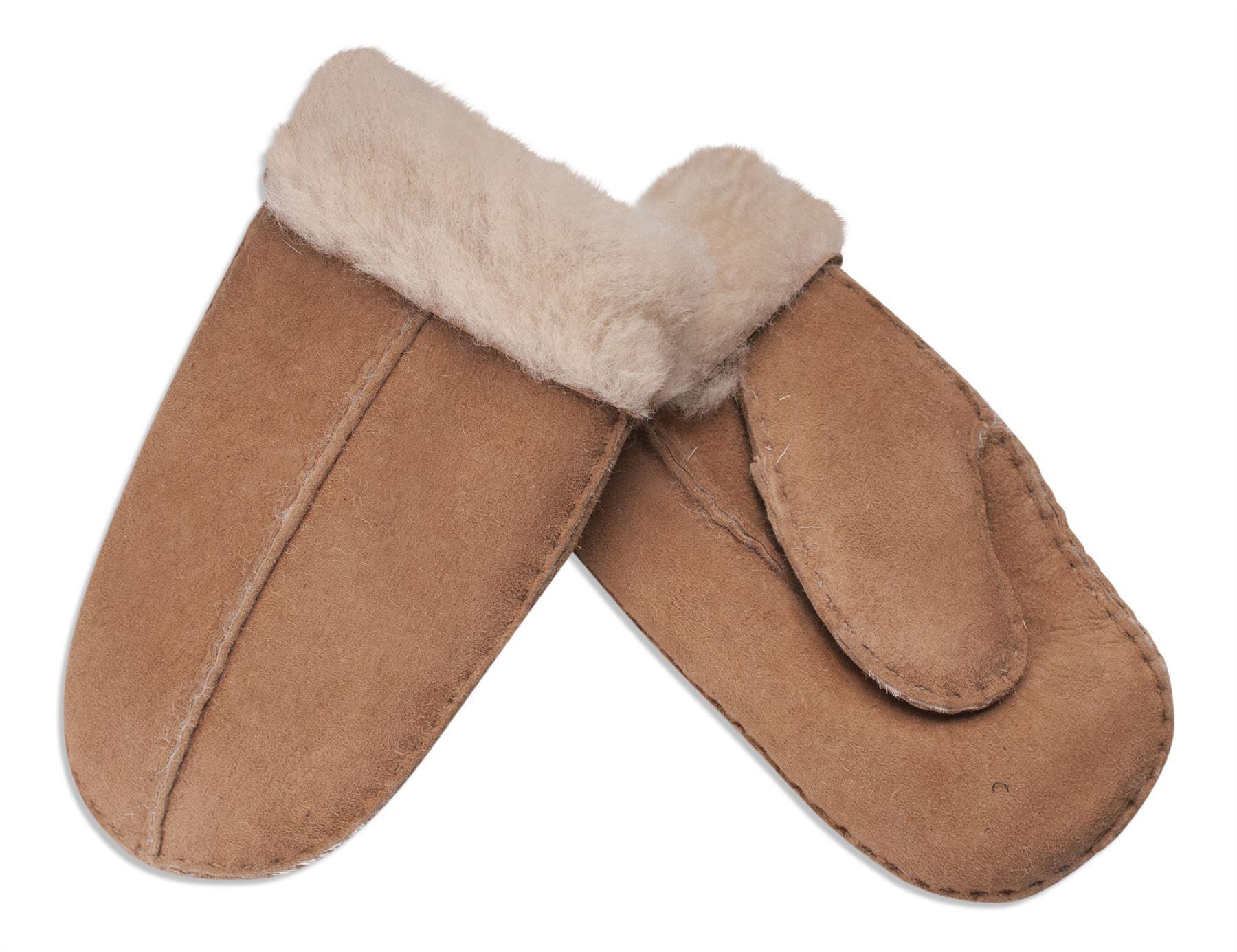Nordvek Childrens Sheepskin Mittens Kids Winter Gloves 325-100 Split Palm